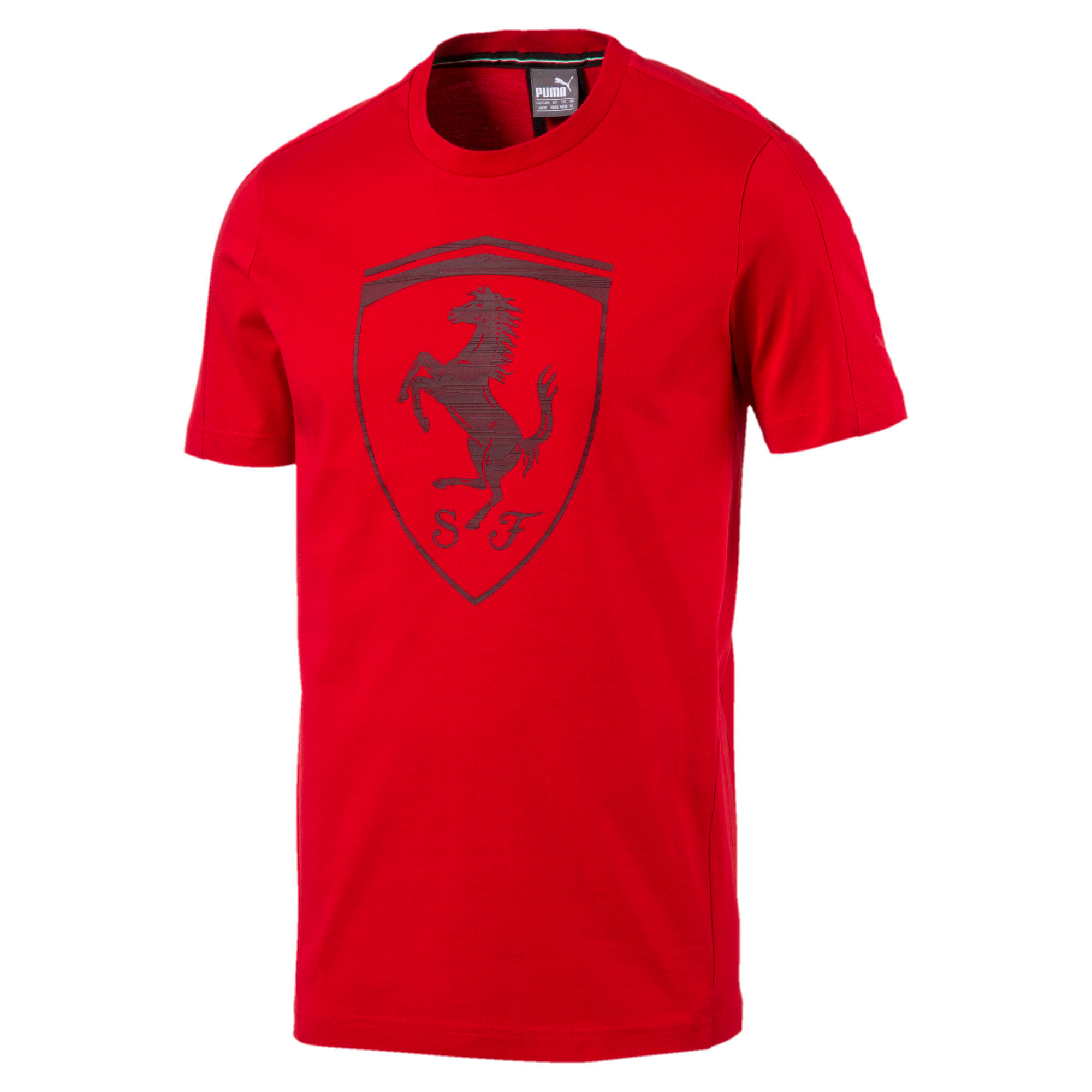 Thumbnail 4 of Ferrari Men's Big Shield T-Shirt, Rosso Corsa, medium-IND