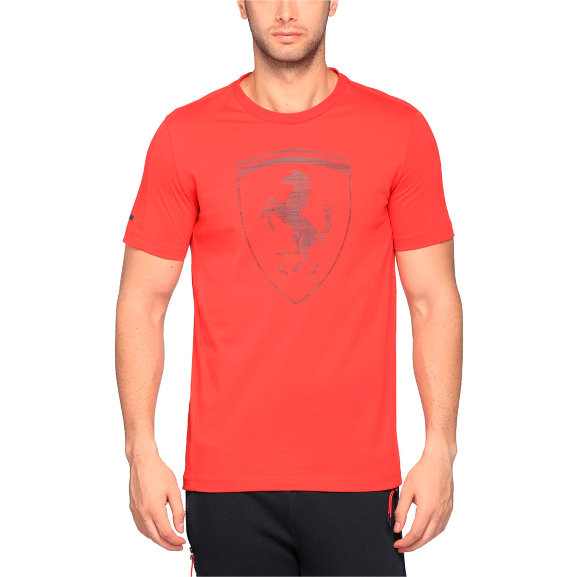 Thumbnail 1 of Ferrari Men's Big Shield T-Shirt, Rosso Corsa, medium-IND