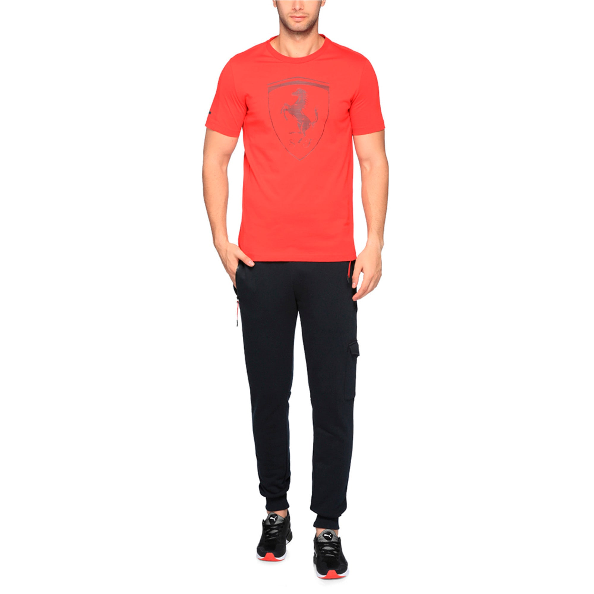 Thumbnail 3 of Ferrari Men's Big Shield T-Shirt, Rosso Corsa, medium-IND