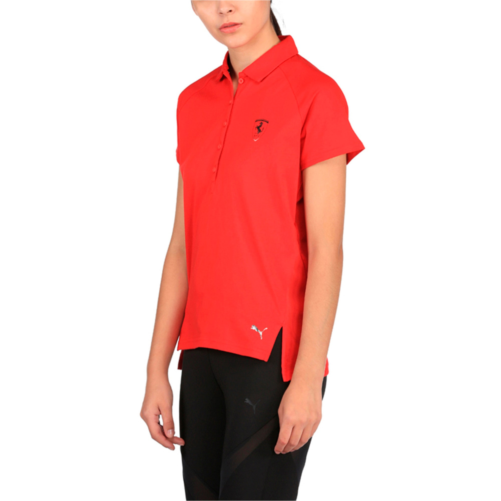 Thumbnail 2 of Ferrari Women's Polo, Rosso Corsa, medium-IND