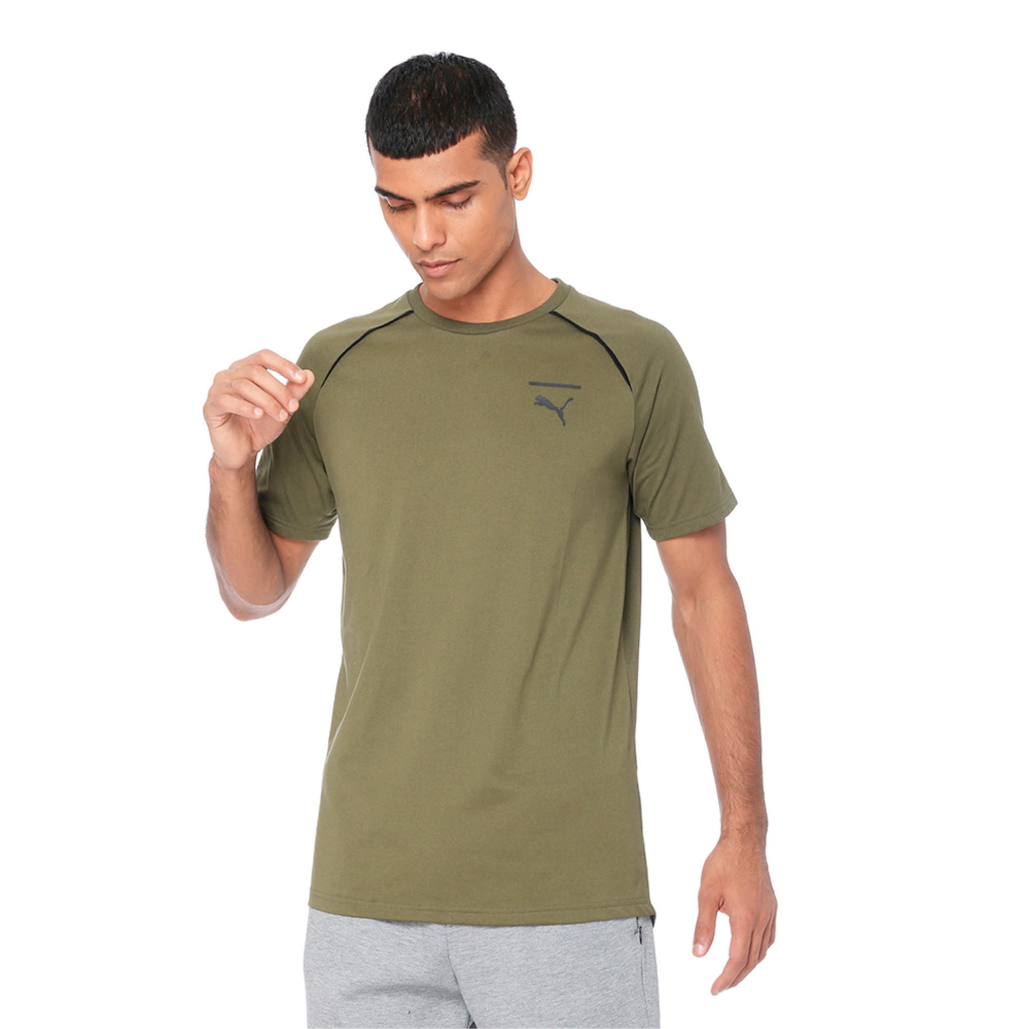 Thumbnail 4 of Evolution Men's Core T-Shirt, Olive Night, medium-IND