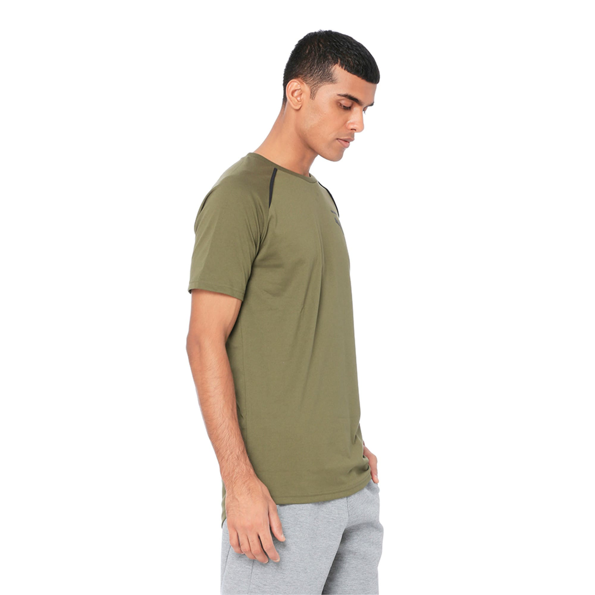 Thumbnail 2 of Evolution Men's Core T-Shirt, Olive Night, medium-IND
