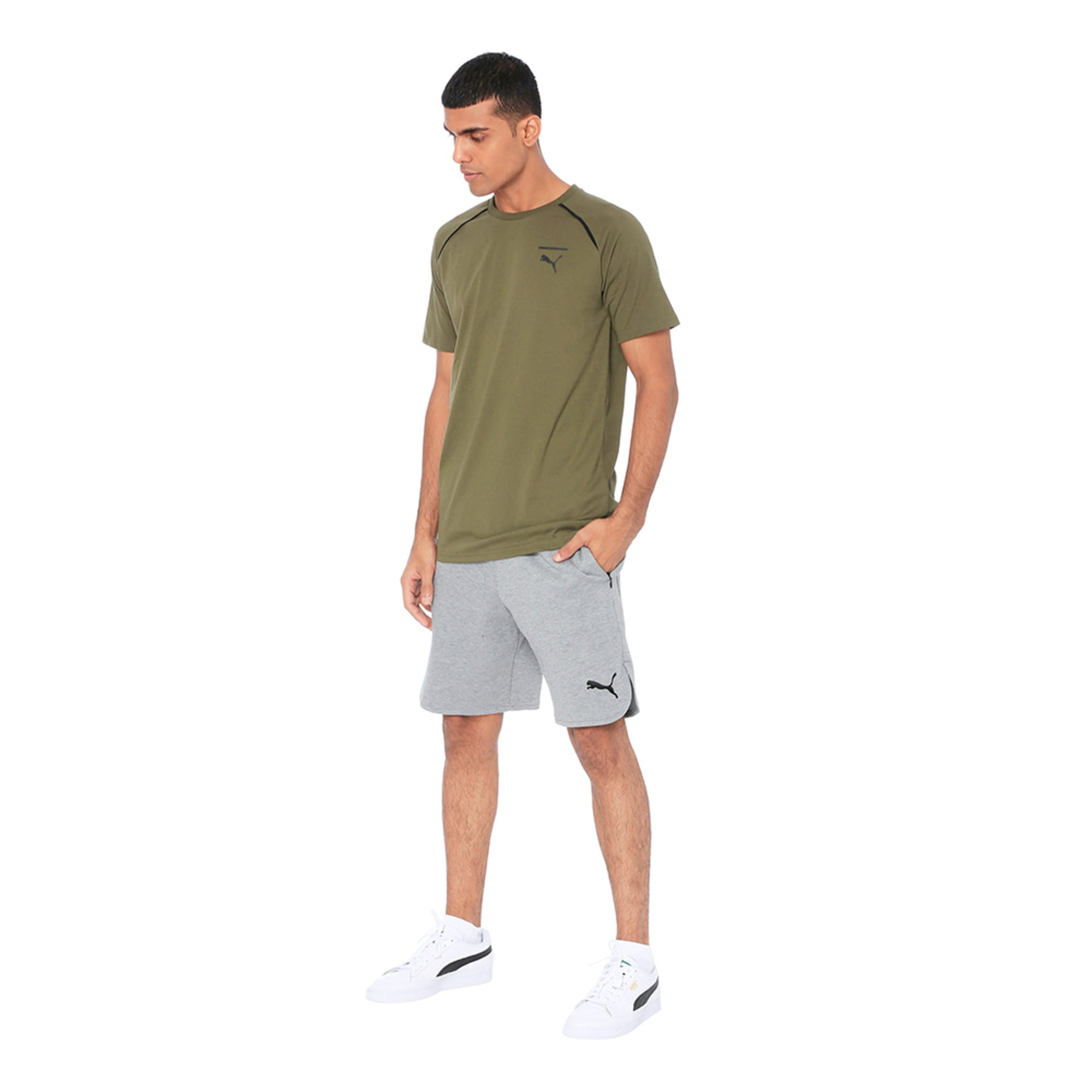 Thumbnail 3 of Evolution Men's Core T-Shirt, Olive Night, medium-IND