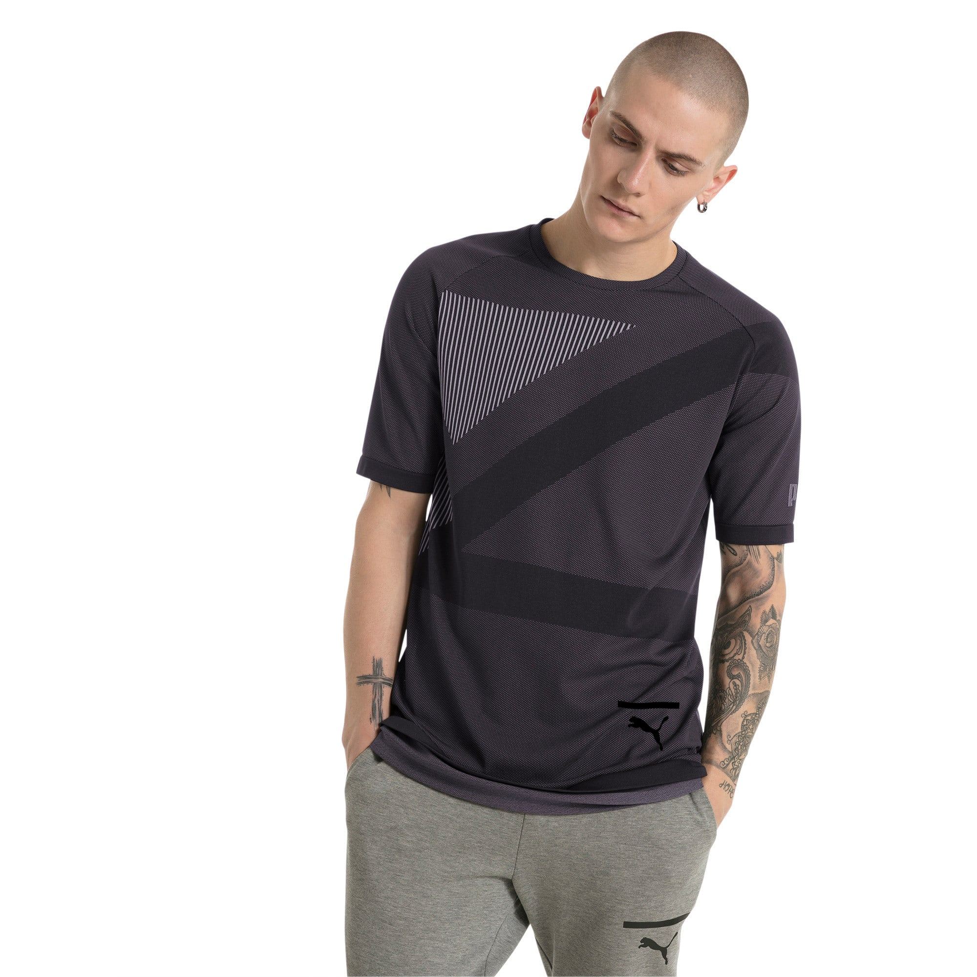 Thumbnail 2 of Evolution Men's evoKNIT T-Shirt, Puma Black, medium-IND