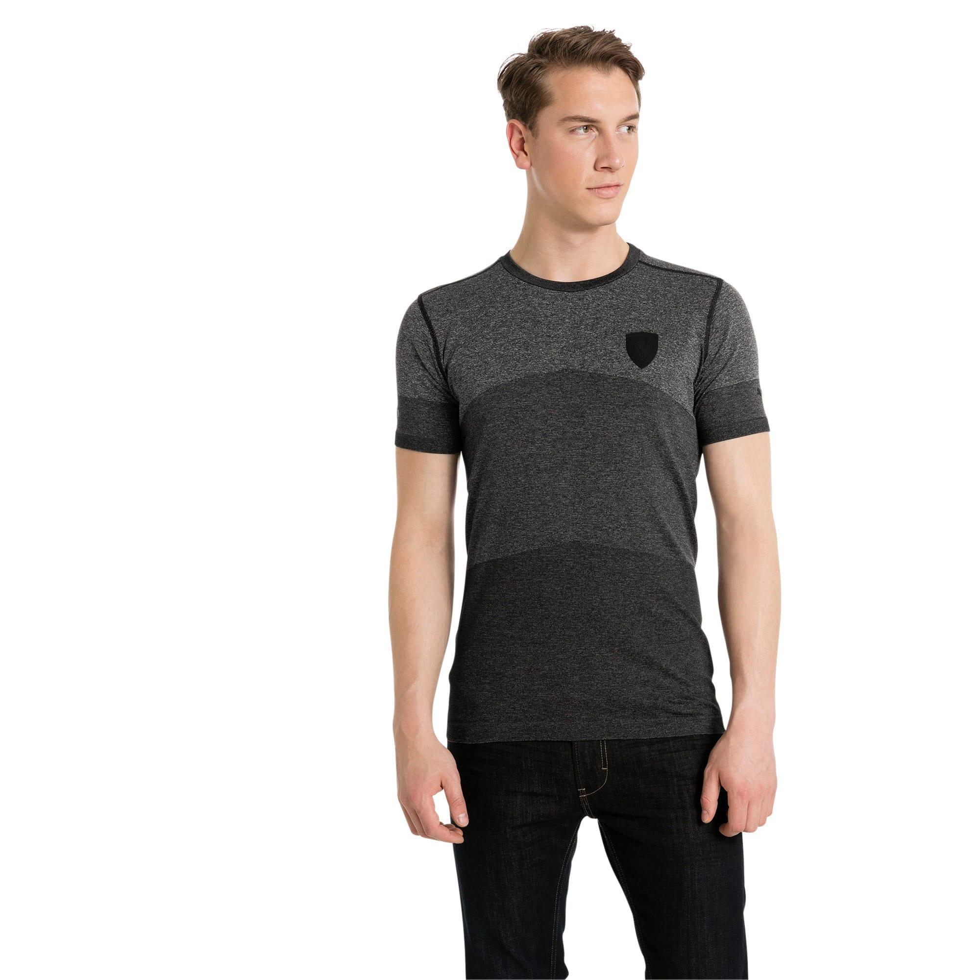 Thumbnail 1 of Ferrari Lifestyle Men's evoKNIT T-Shirt, Moonless Night Heather, medium-IND