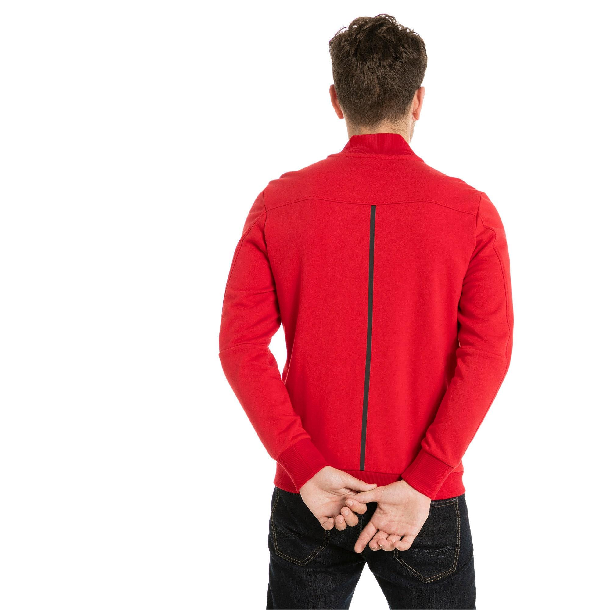 Thumbnail 5 of Ferrari Lifestyle Men's Sweat Jacket, Rosso Corsa, medium-IND
