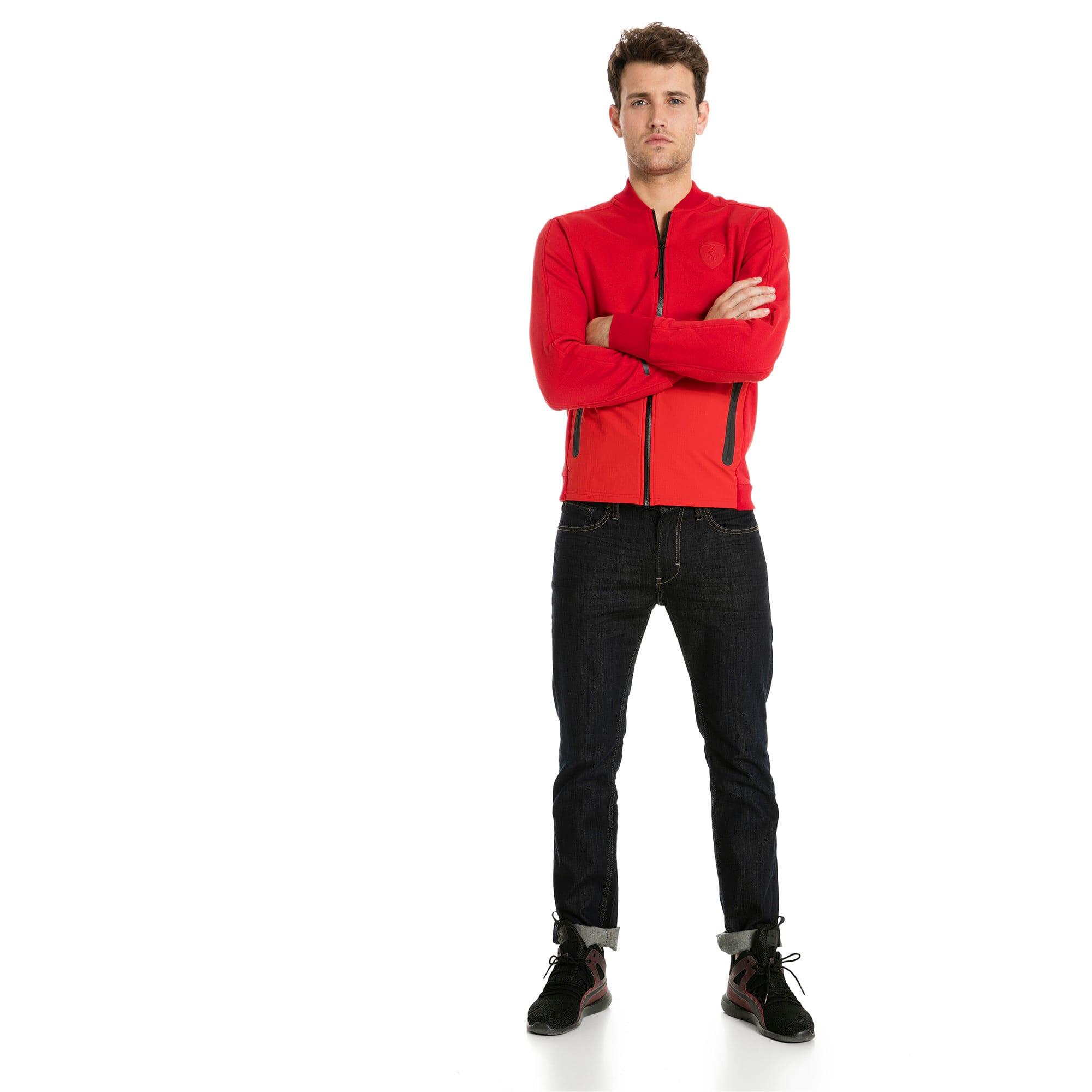Thumbnail 3 of Ferrari Lifestyle Men's Sweat Jacket, Rosso Corsa, medium-IND