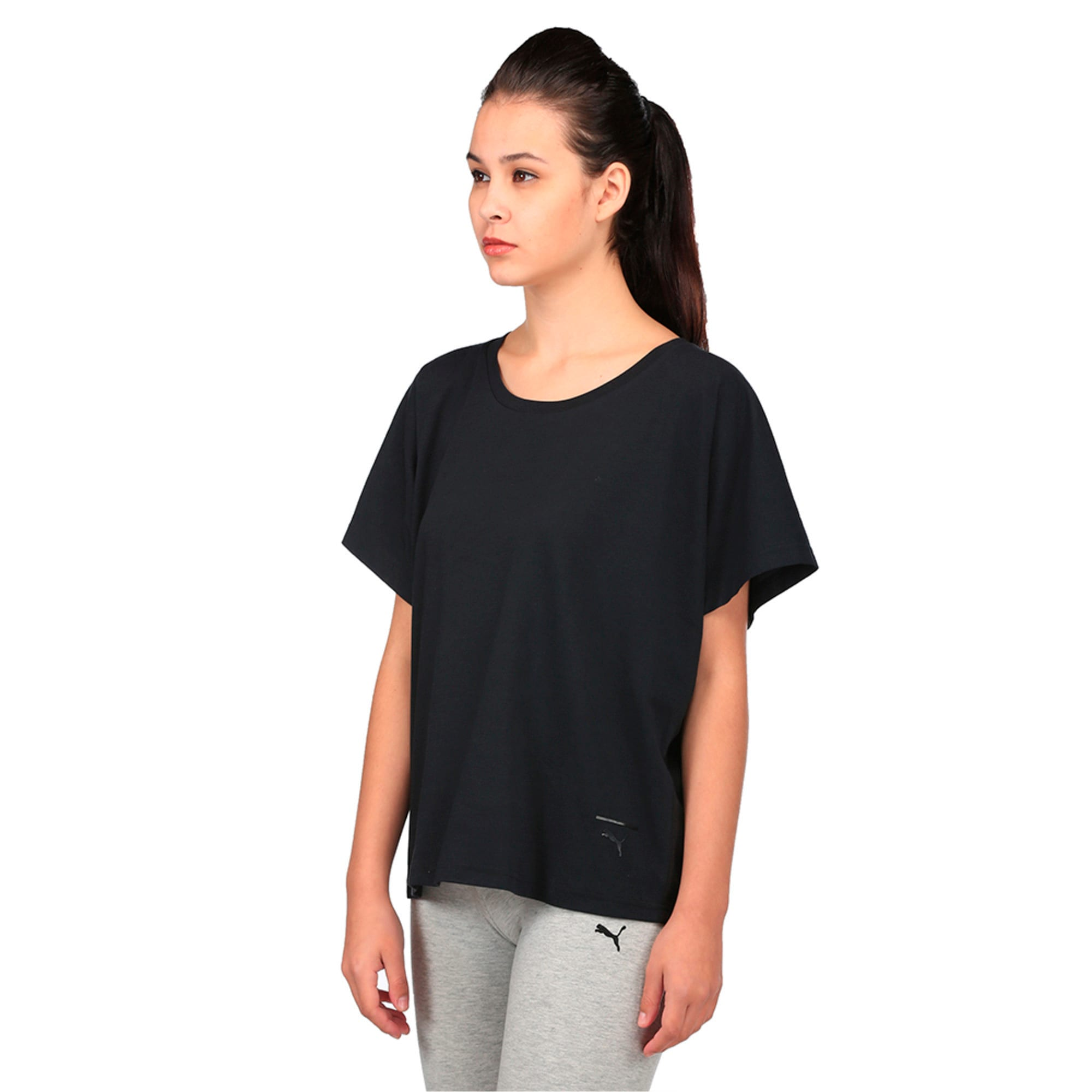 Thumbnail 2 of Evolution Women's T-Shirt, Puma Black, medium-IND