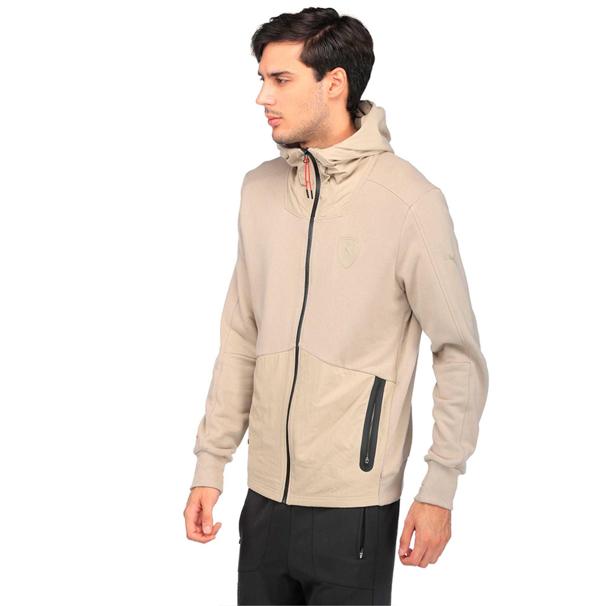 Thumbnail 5 of Ferrari Lifestyle Men's Hooded Sweat Jacket, Pure Cashmere, medium-IND