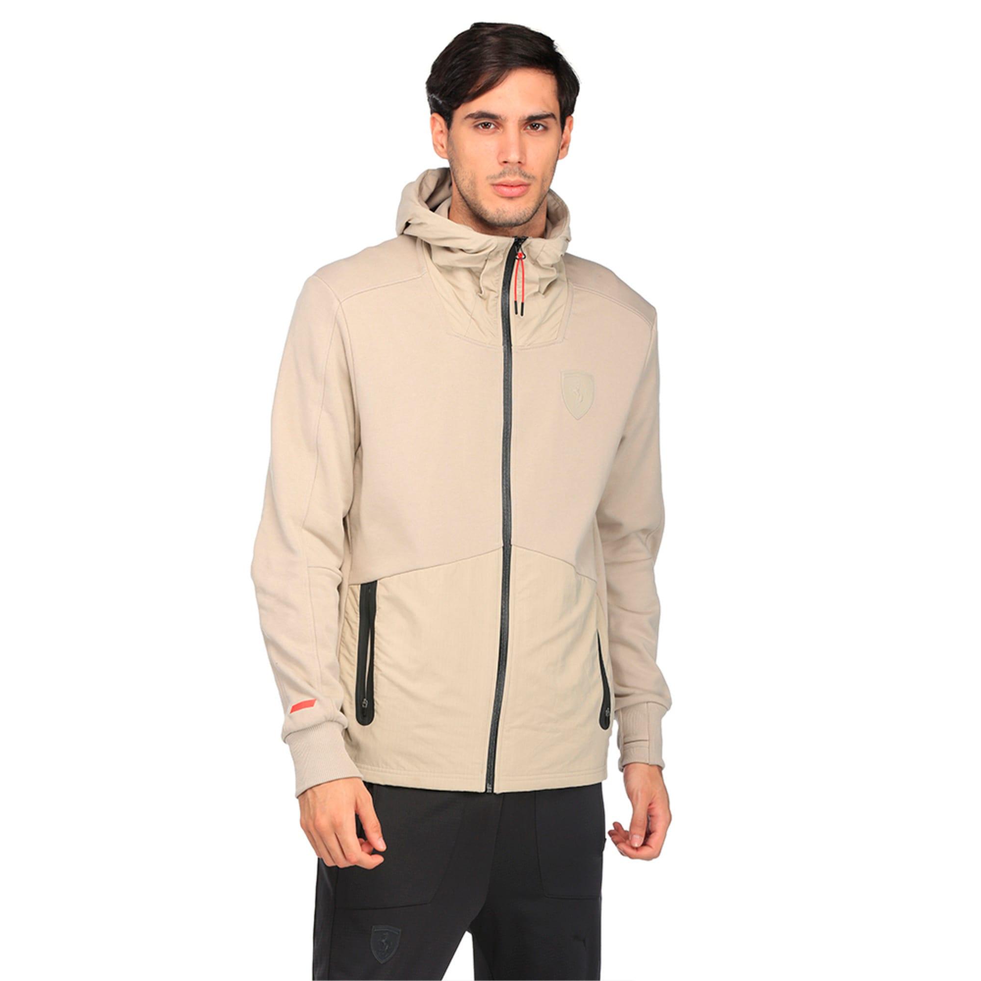 Thumbnail 1 of Ferrari Lifestyle Men's Hooded Sweat Jacket, Pure Cashmere, medium-IND