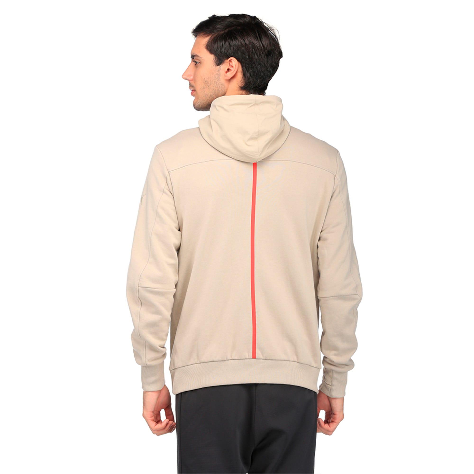 Thumbnail 2 of Ferrari Lifestyle Men's Hooded Sweat Jacket, Pure Cashmere, medium-IND