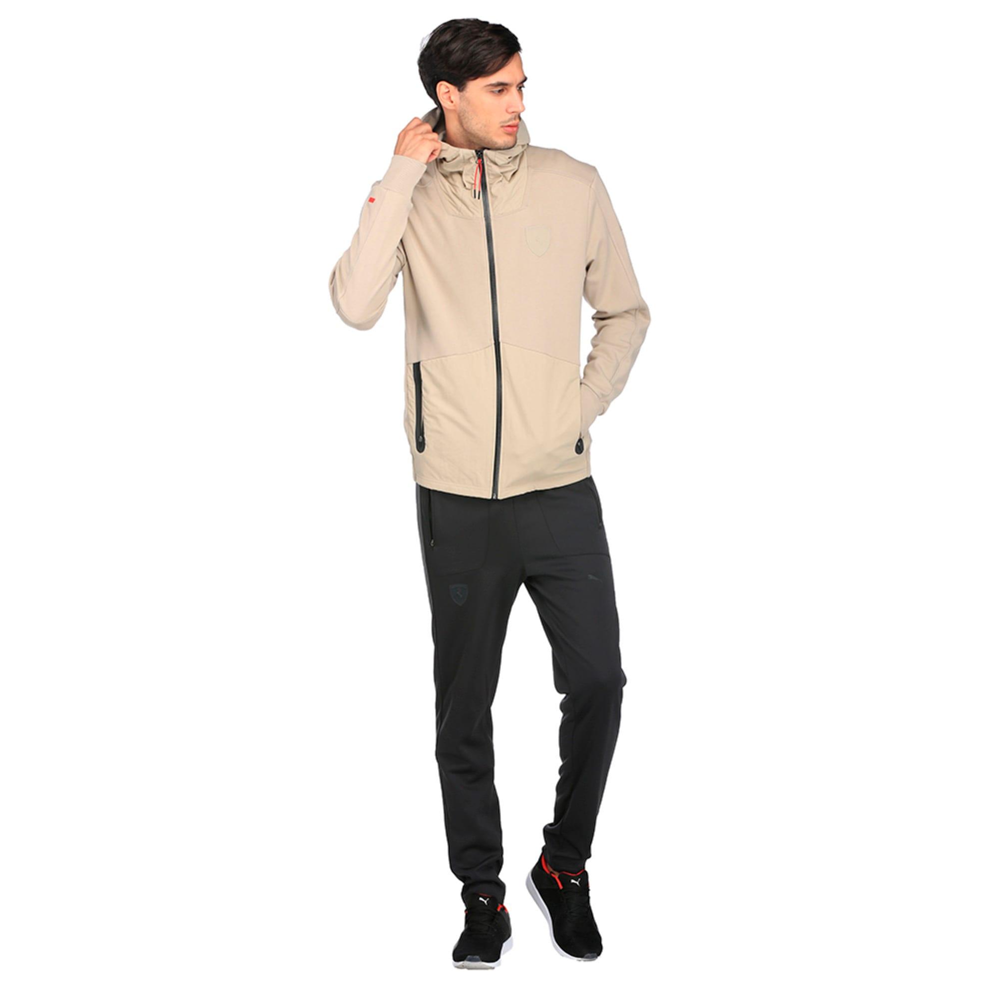 Thumbnail 4 of Ferrari Lifestyle Men's Hooded Sweat Jacket, Pure Cashmere, medium-IND