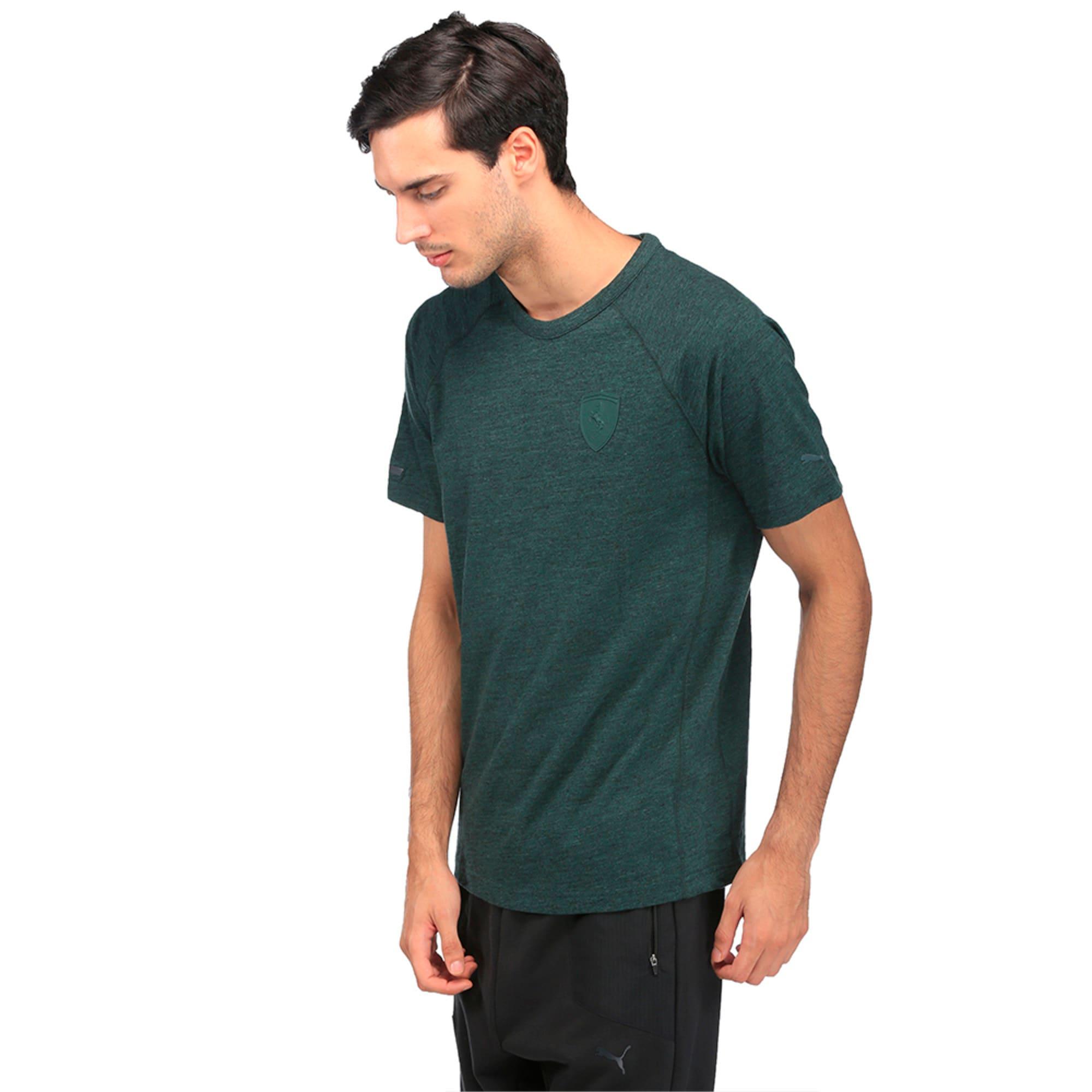 Thumbnail 3 of Ferrari Lifestyle Men's Small Shield T-Shirt, Green Gables Heather, medium-IND