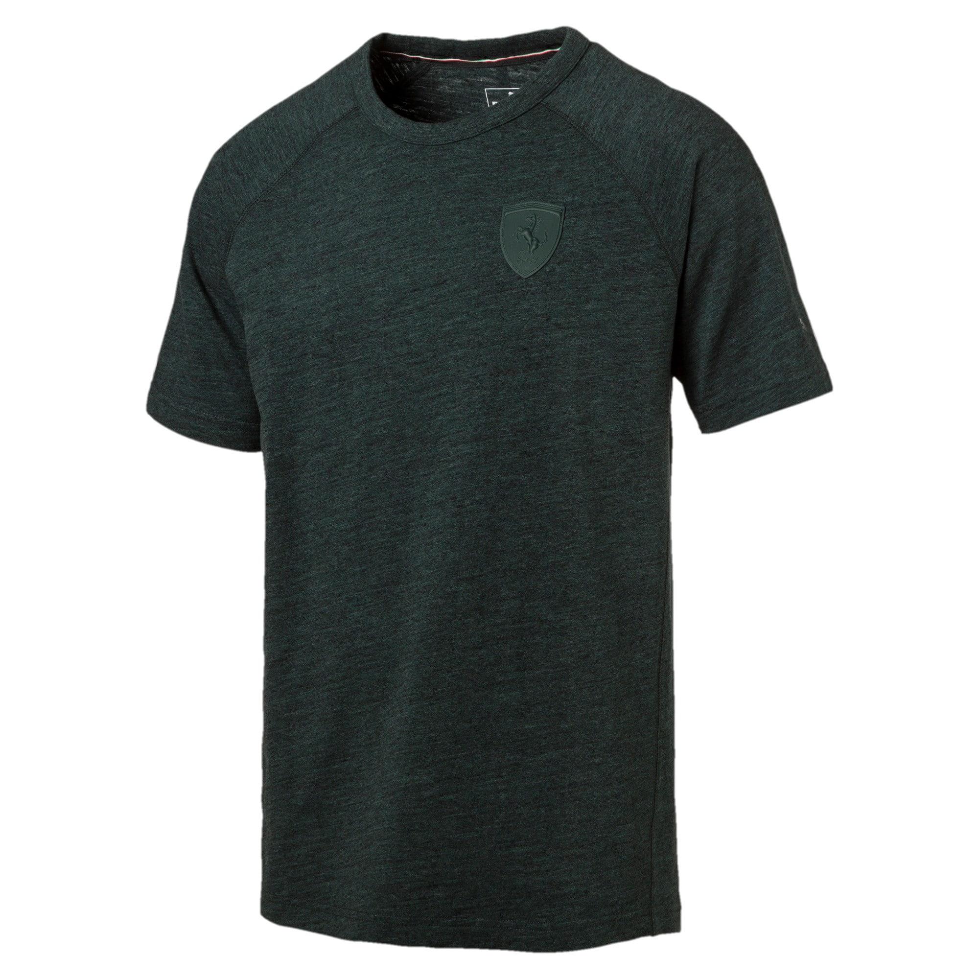 Thumbnail 2 of Ferrari Lifestyle Men's Small Shield T-Shirt, Green Gables Heather, medium-IND