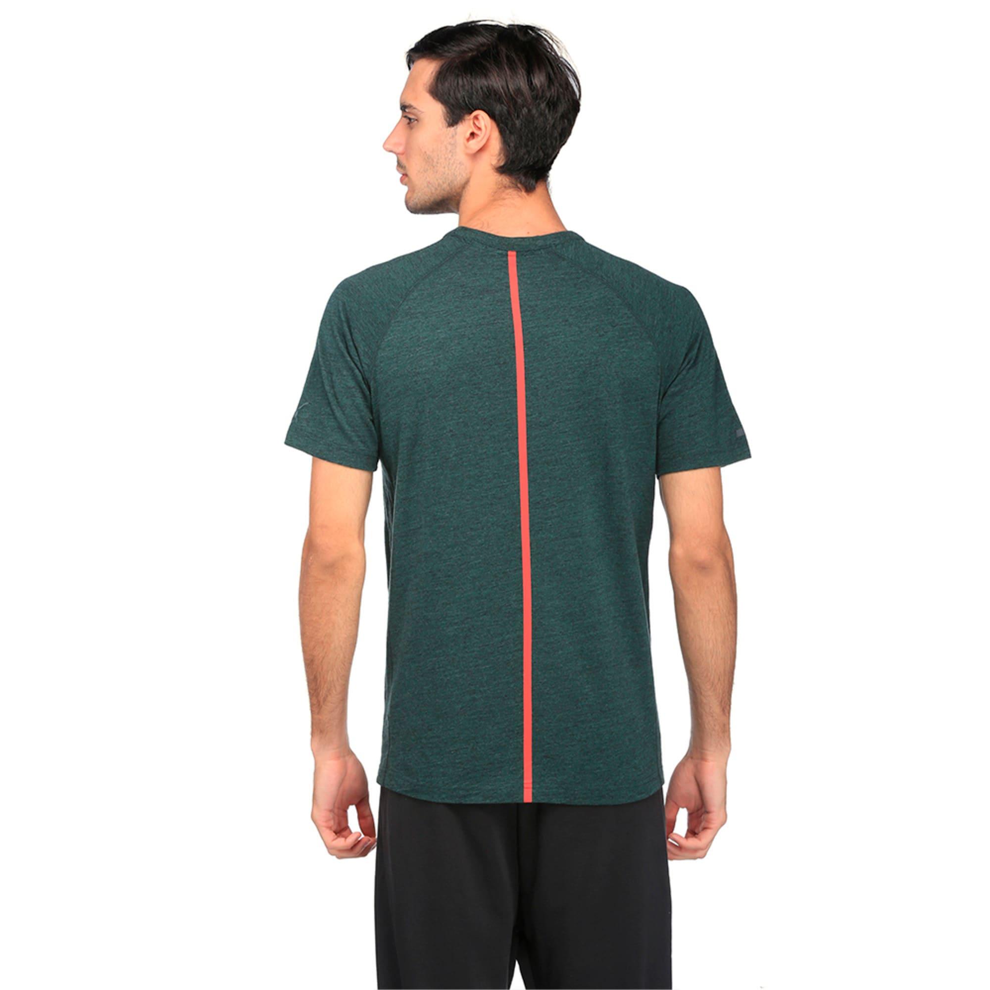 Thumbnail 1 of Ferrari Lifestyle Men's Small Shield T-Shirt, Green Gables Heather, medium-IND