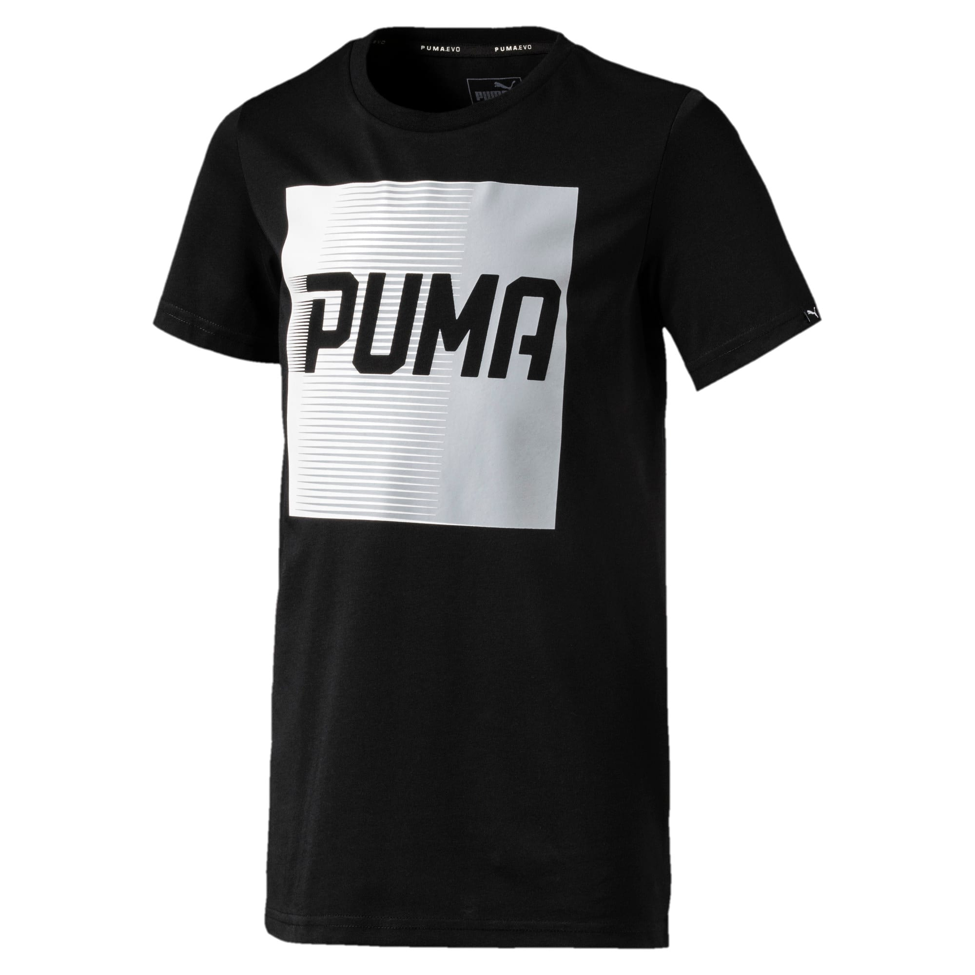 Thumbnail 1 of Boys' Evo Graphic T-Shirt, Cotton Black, medium-IND