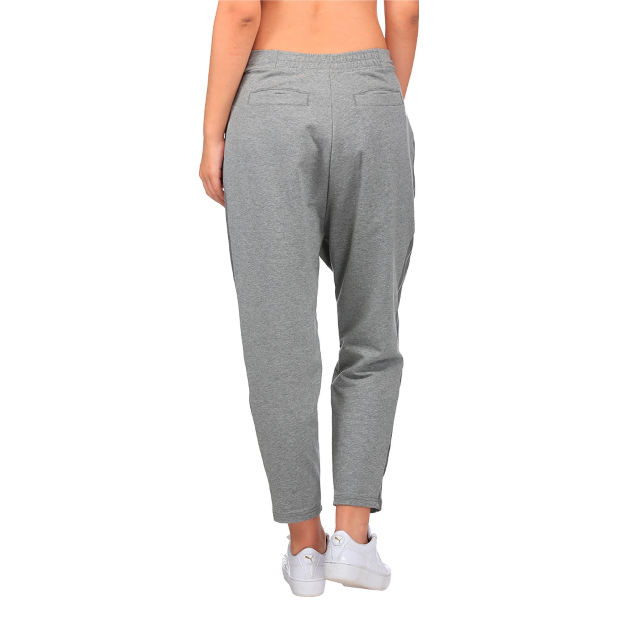 Thumbnail 3 of Evolution Women's Tape High Waist Sweatpants, Medium Gray Heather, medium-IND