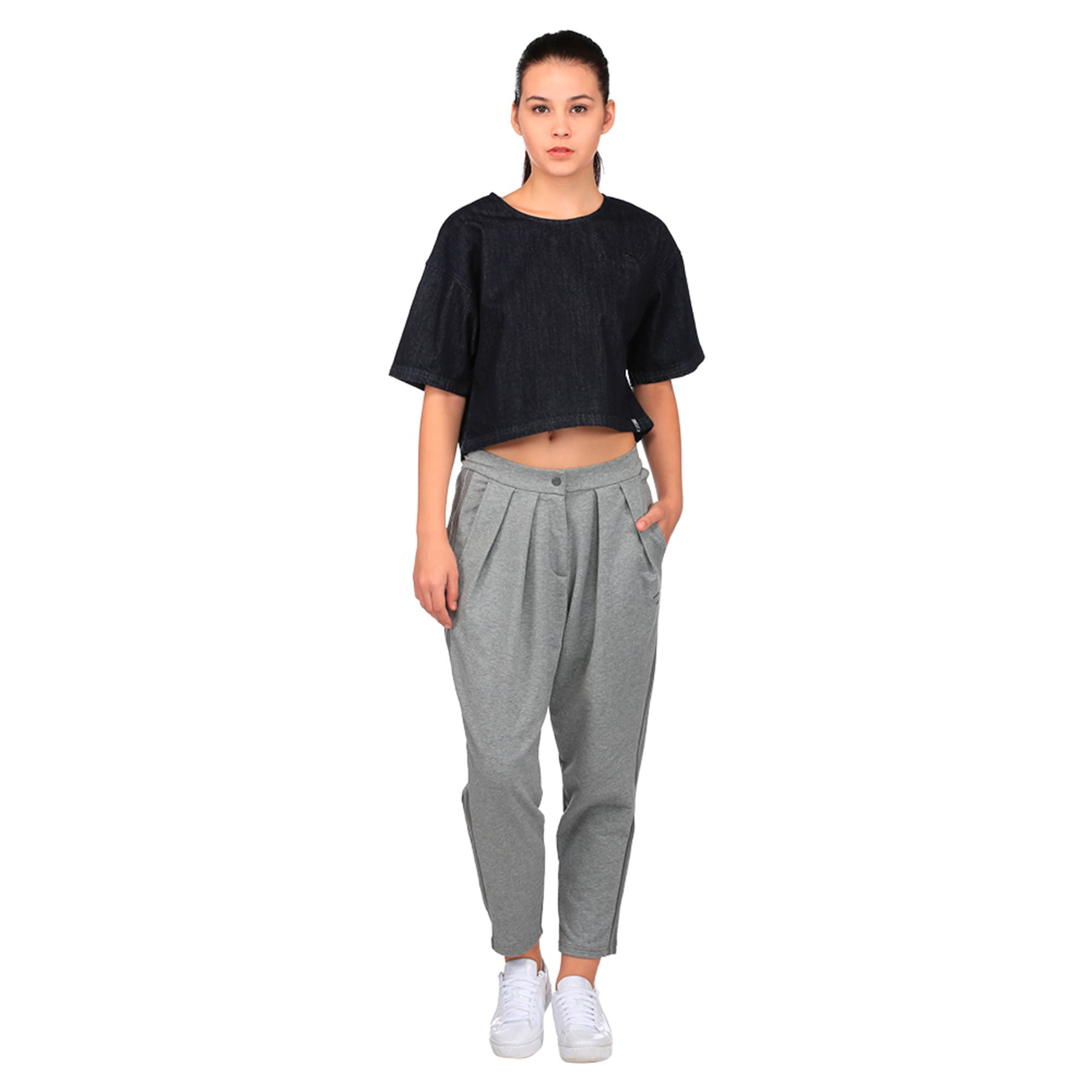 Thumbnail 4 of Evolution Women's Tape High Waist Sweatpants, Medium Gray Heather, medium-IND
