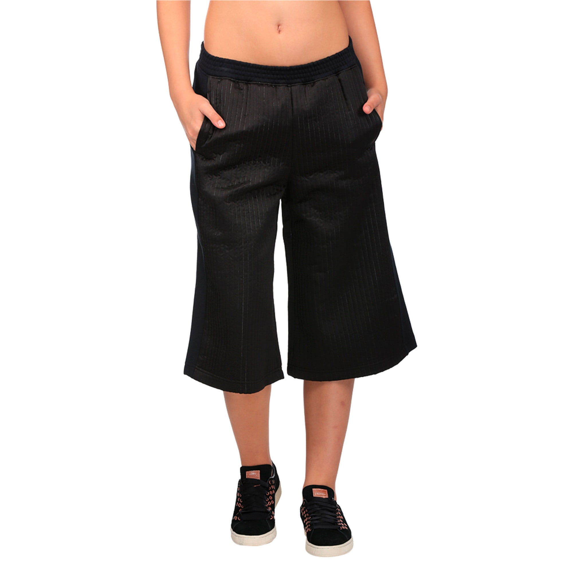 Thumbnail 1 of Evolution Women's Quilted Culottes, Puma Black, medium-IND