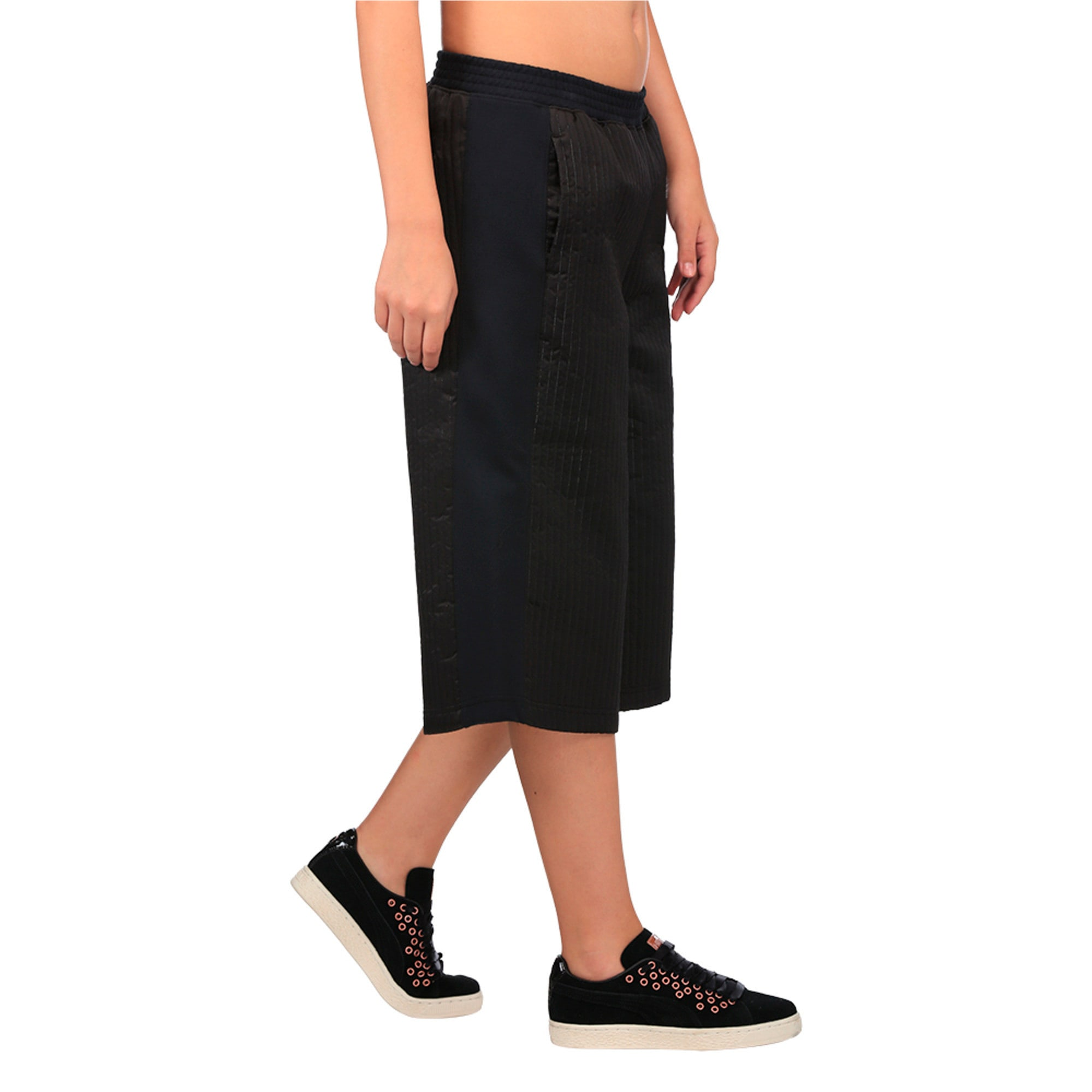 Thumbnail 3 of Evolution Women's Quilted Culottes, Puma Black, medium-IND
