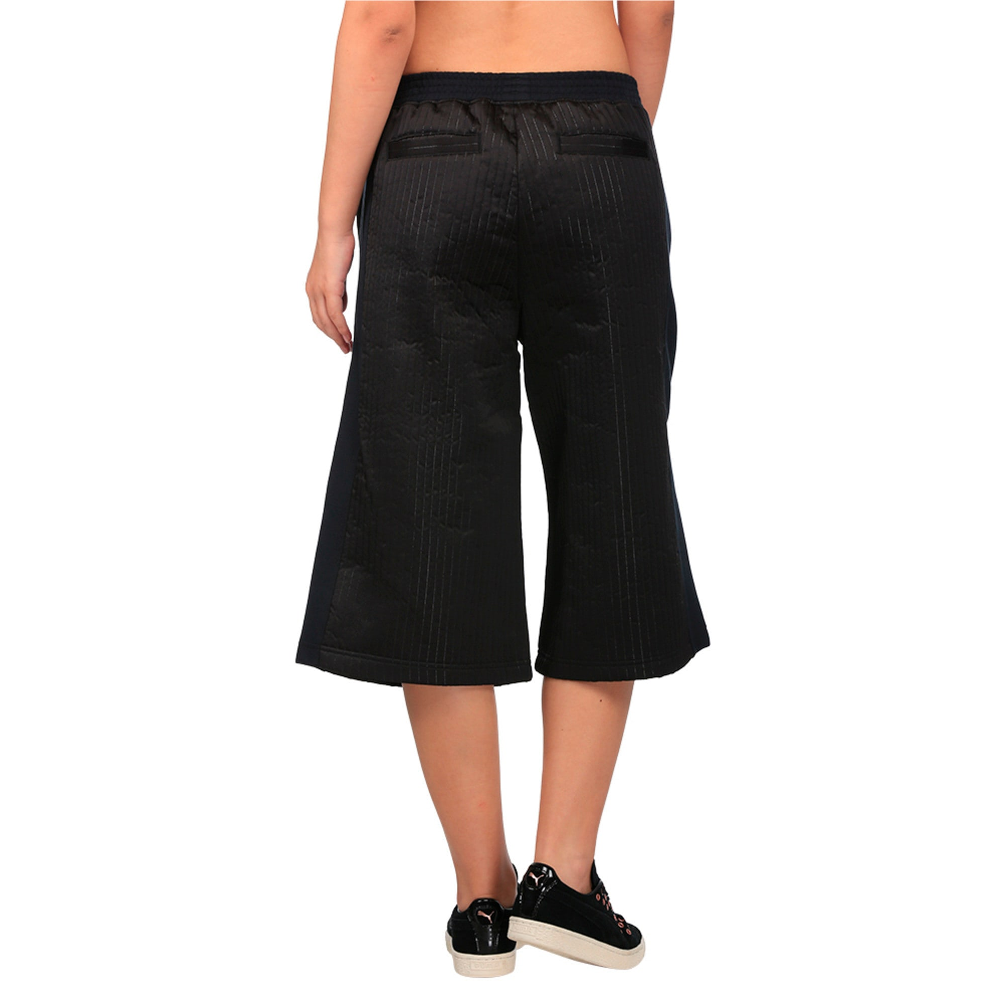 Thumbnail 2 of Evolution Women's Quilted Culottes, Puma Black, medium-IND
