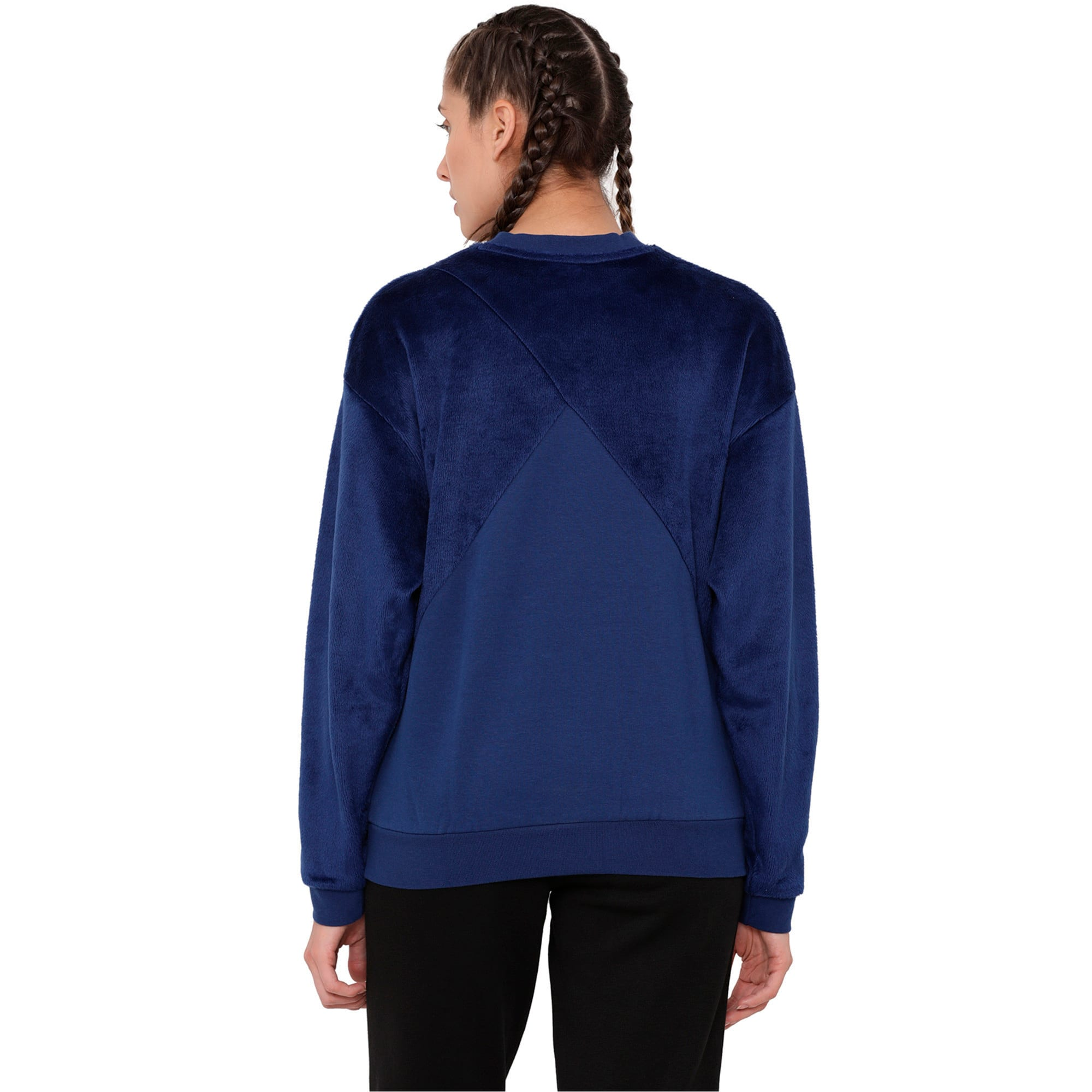 Thumbnail 2 of Archive Women's Fabric Block Sweater, Blue Depths, medium-IND