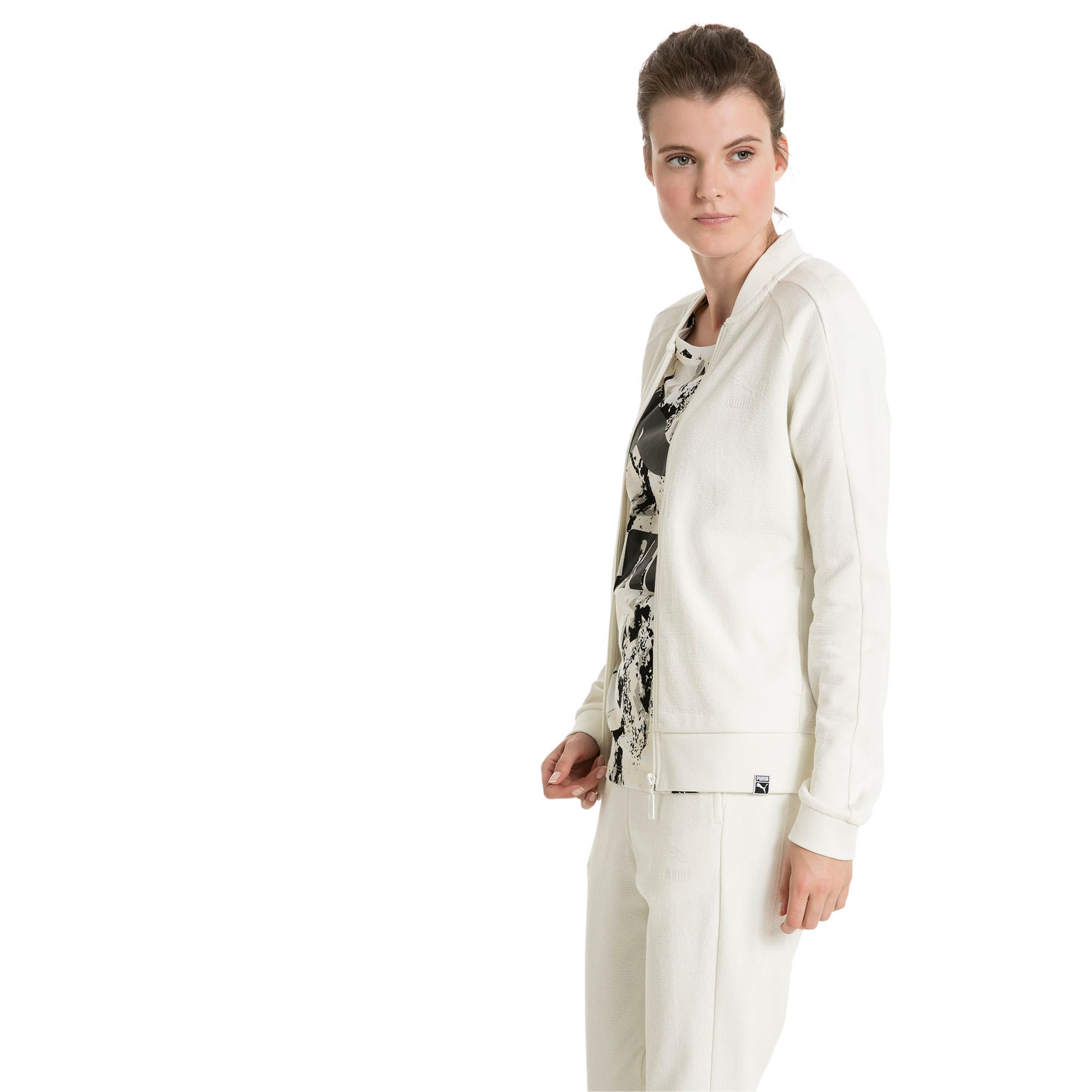 Thumbnail 2 of Classics Women's Structured Archive T7 Track Jacket, Marshmallow, medium-IND
