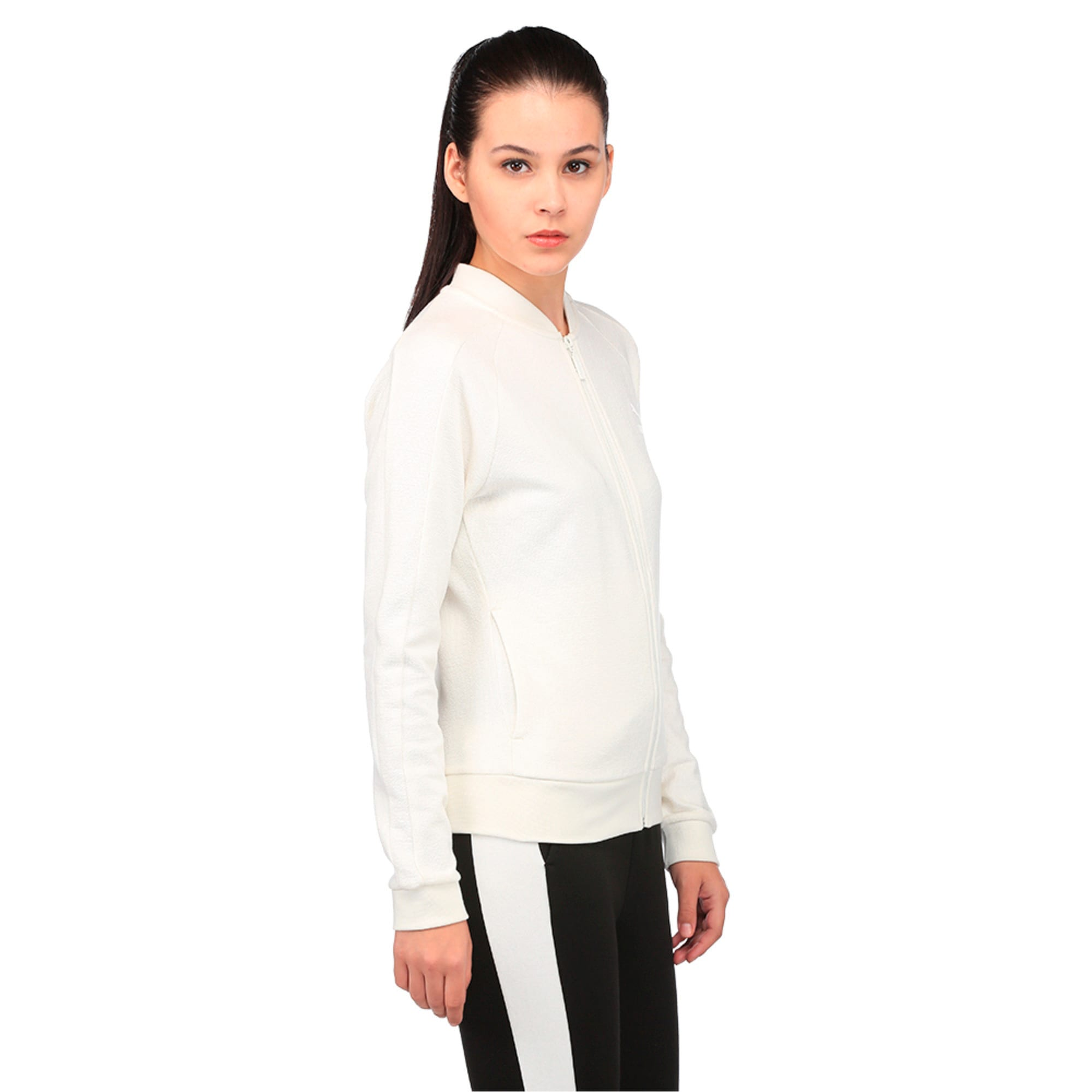 Thumbnail 3 of Classics Women's Structured Archive T7 Track Jacket, Marshmallow, medium-IND