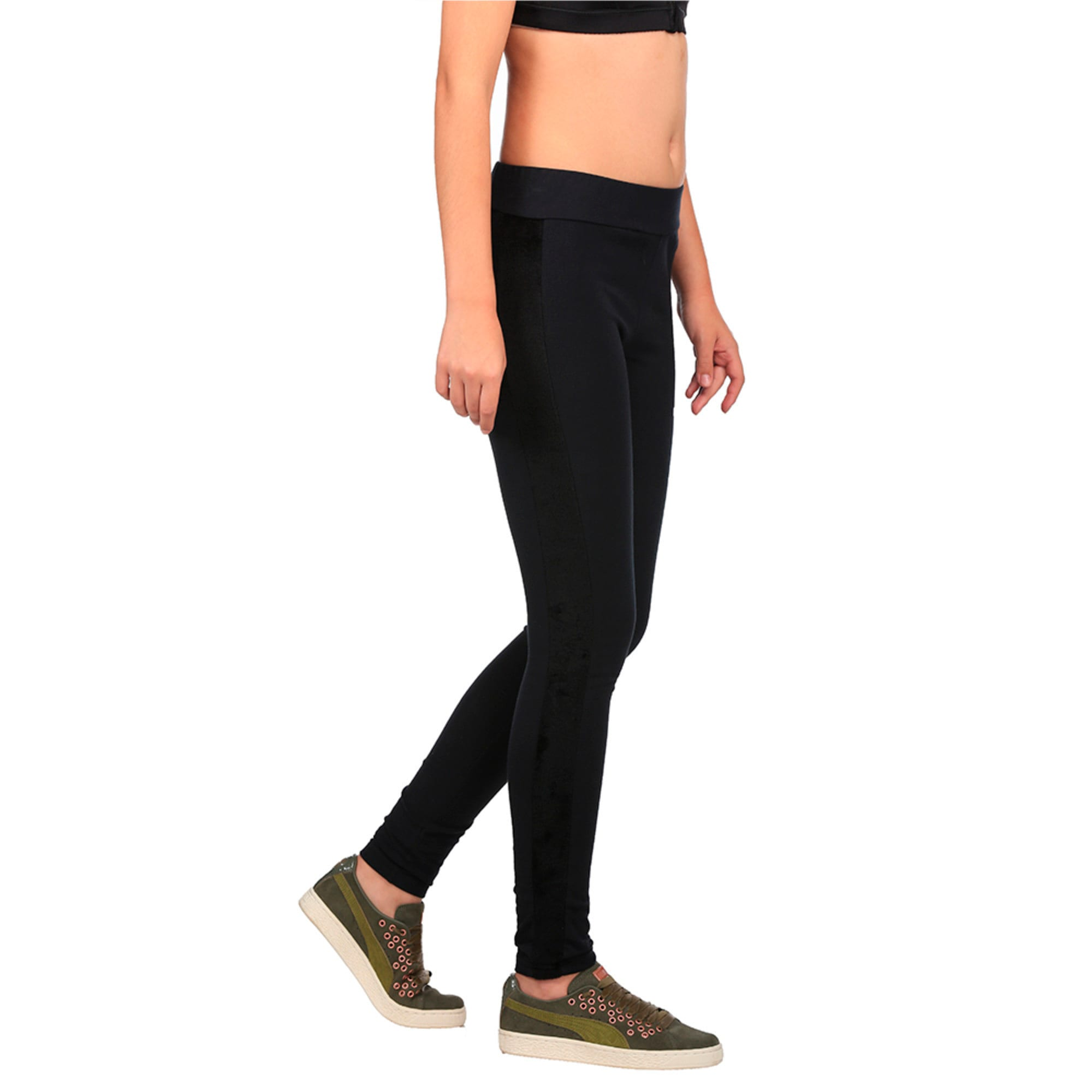 Thumbnail 3 of Classics Women's Winterized ArchiveT7 Leggings, Cotton Black, medium-IND