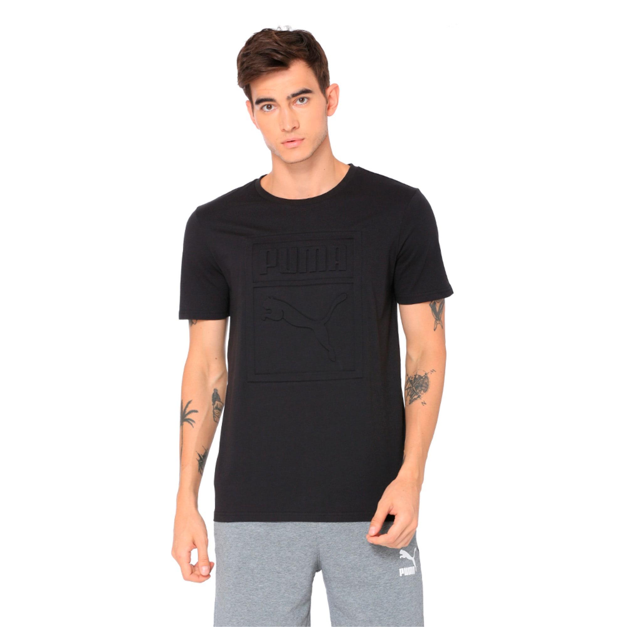 Thumbnail 4 of Classics Men's Archive Embossed Logo T-Shirt, Puma Black, medium-IND