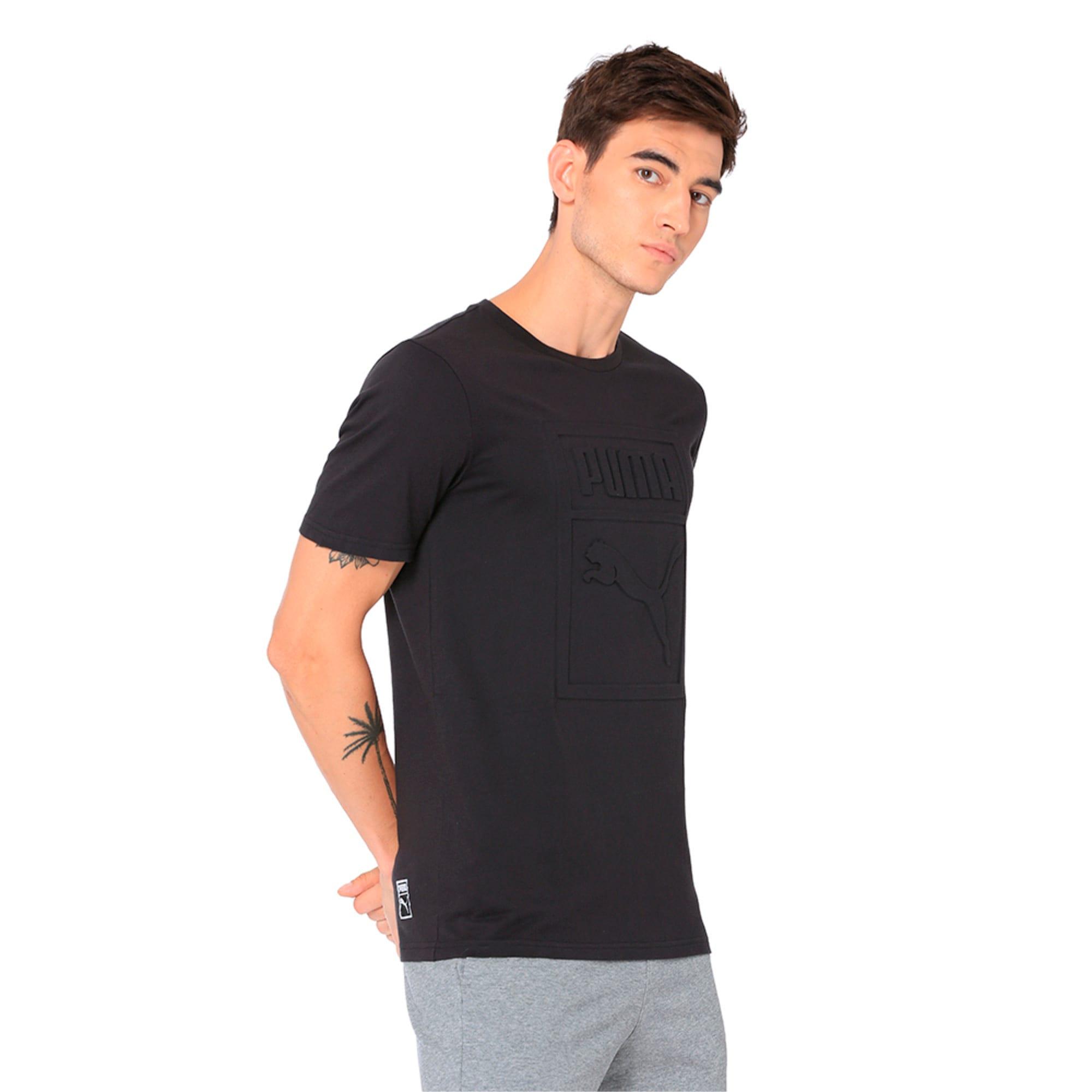 Thumbnail 2 of Classics Men's Archive Embossed Logo T-Shirt, Puma Black, medium-IND