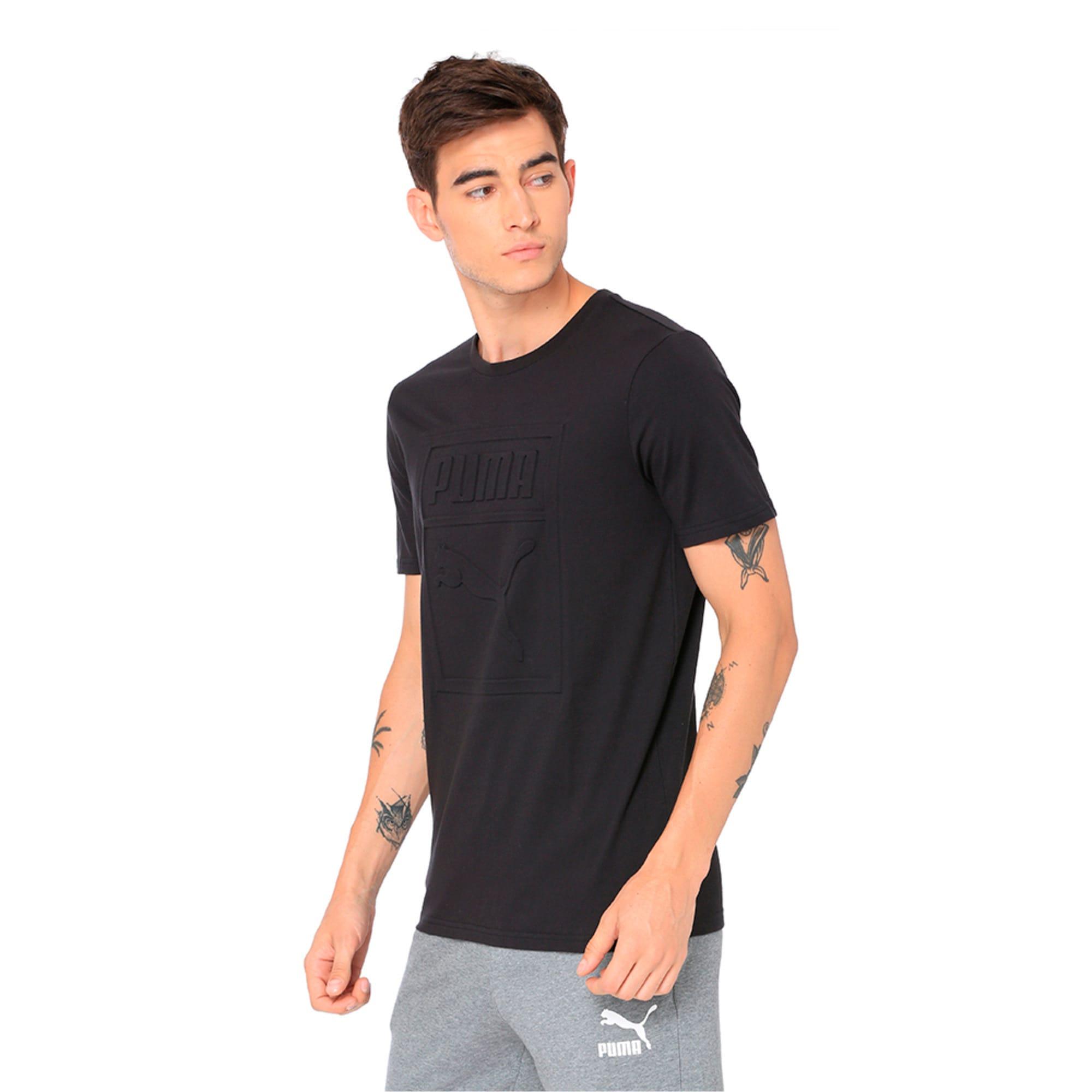 Thumbnail 3 of Classics Men's Archive Embossed Logo T-Shirt, Puma Black, medium-IND