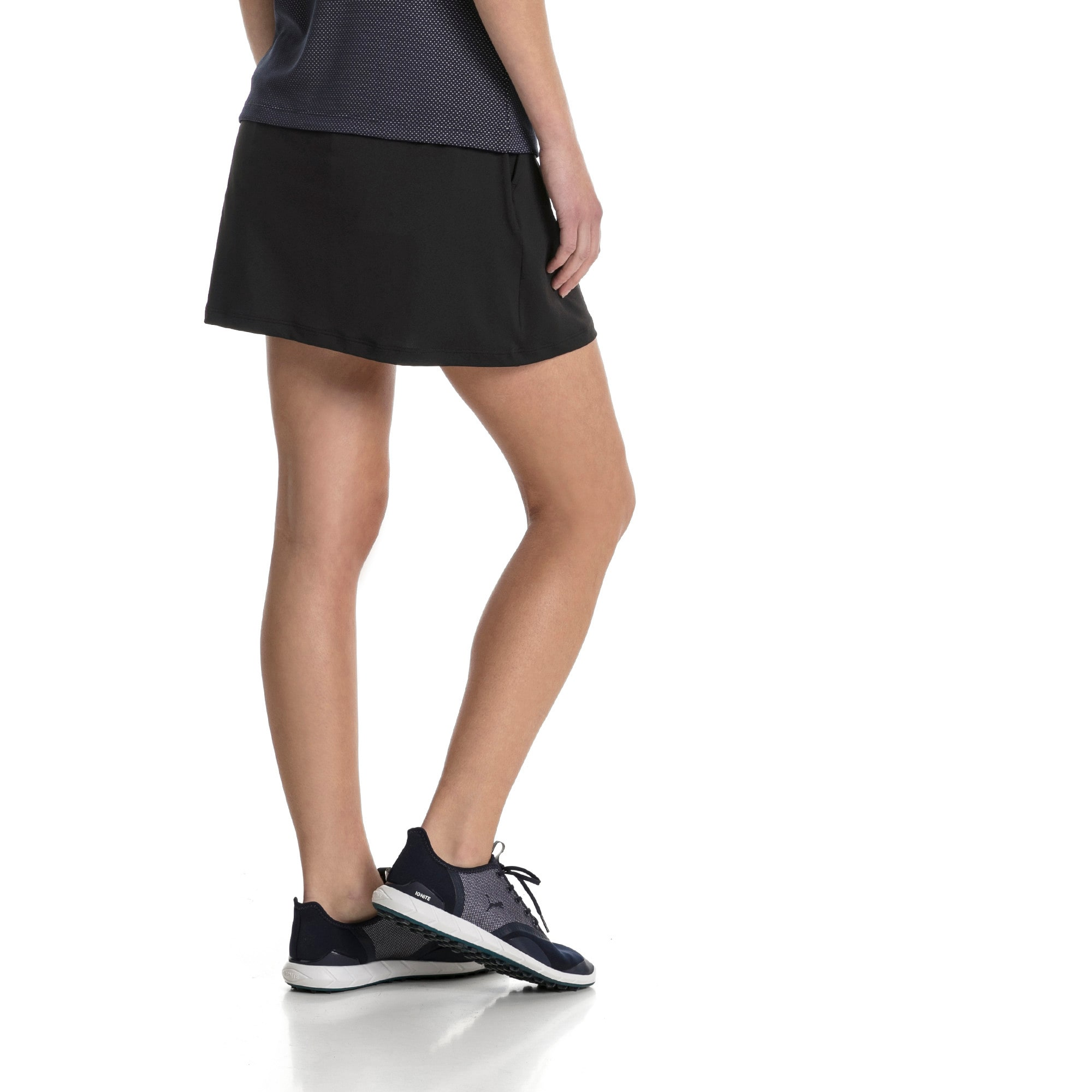 Thumbnail 2 of Golf Women's PWRSHAPE Solid Knit Skirt, Puma Black, medium