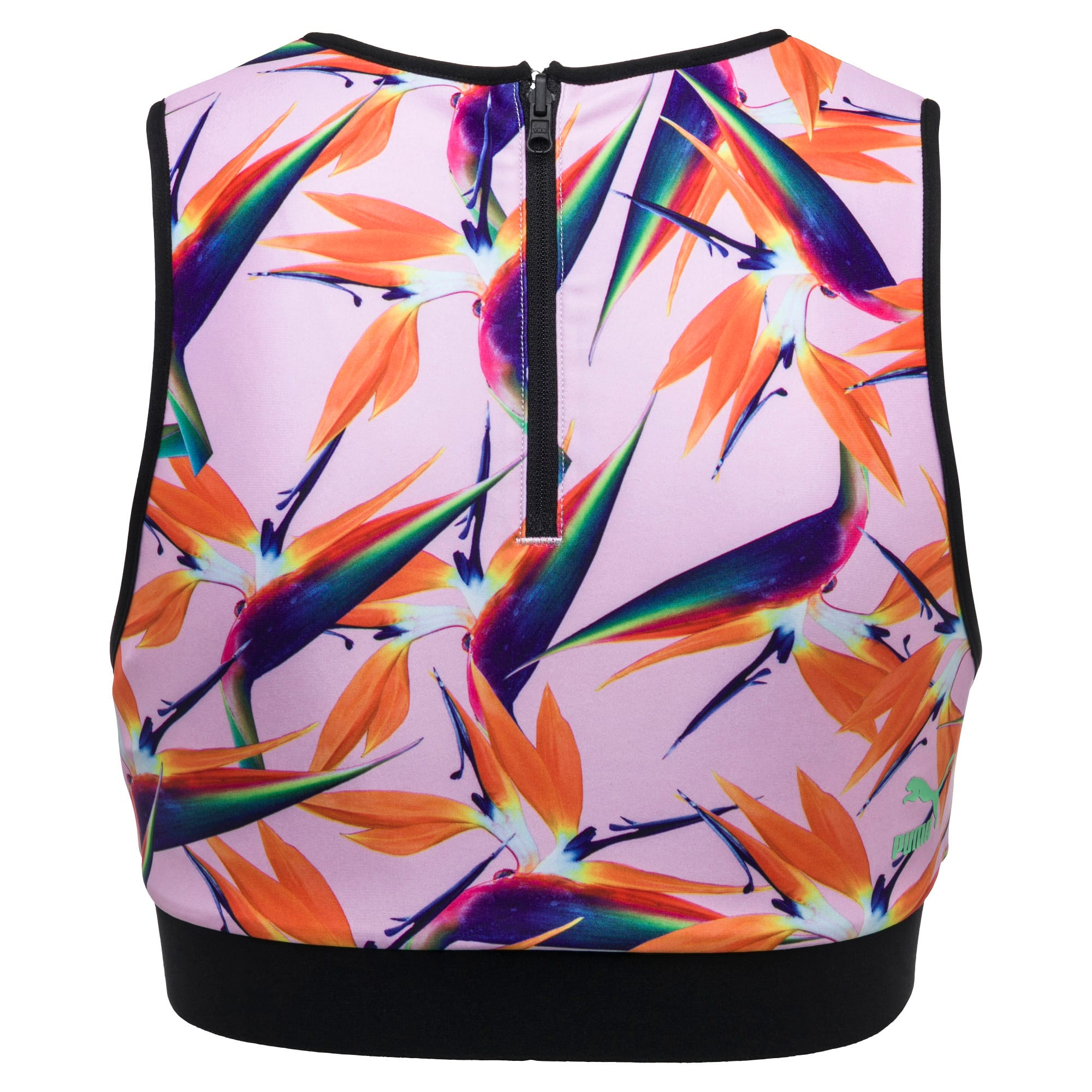 Thumbnail 2 of PUMA x SOPHIA WEBSTER Women's Reversible Top, -White Sophia AOP, medium-IND