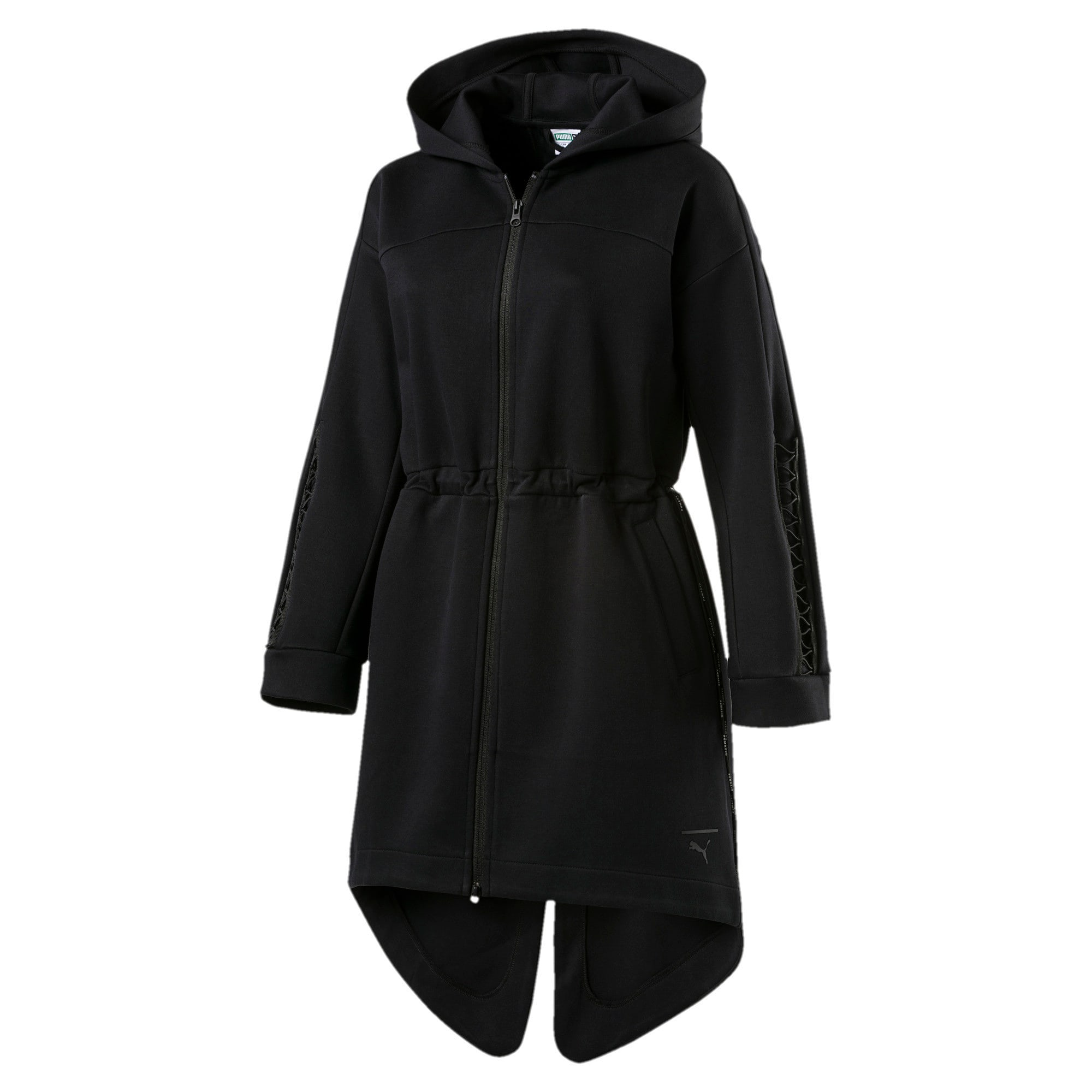 Thumbnail 4 of Evolution Women's Lacing Midlayer Jacket, Puma Black, medium-IND