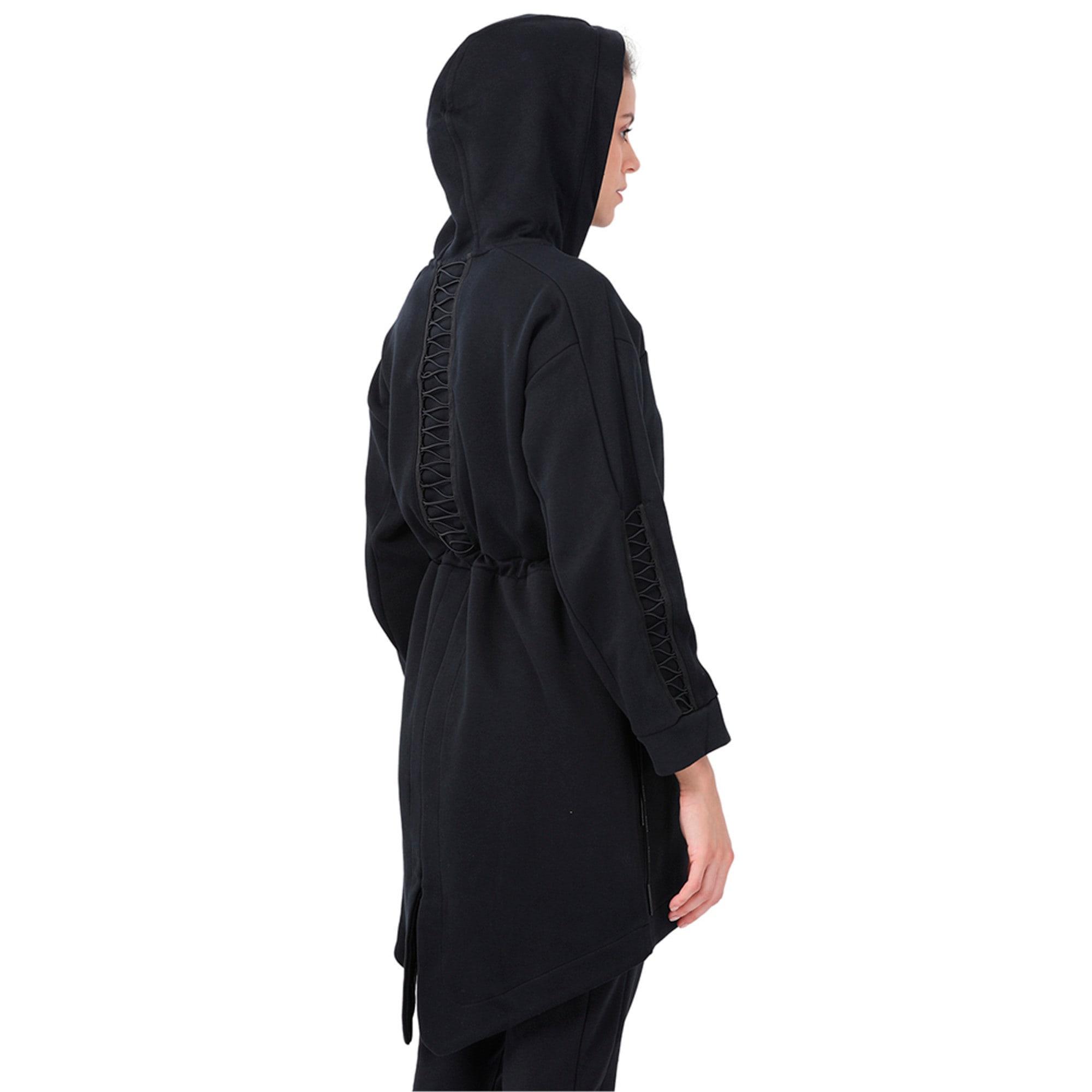 Thumbnail 3 of Evolution Women's Lacing Midlayer Jacket, Puma Black, medium-IND