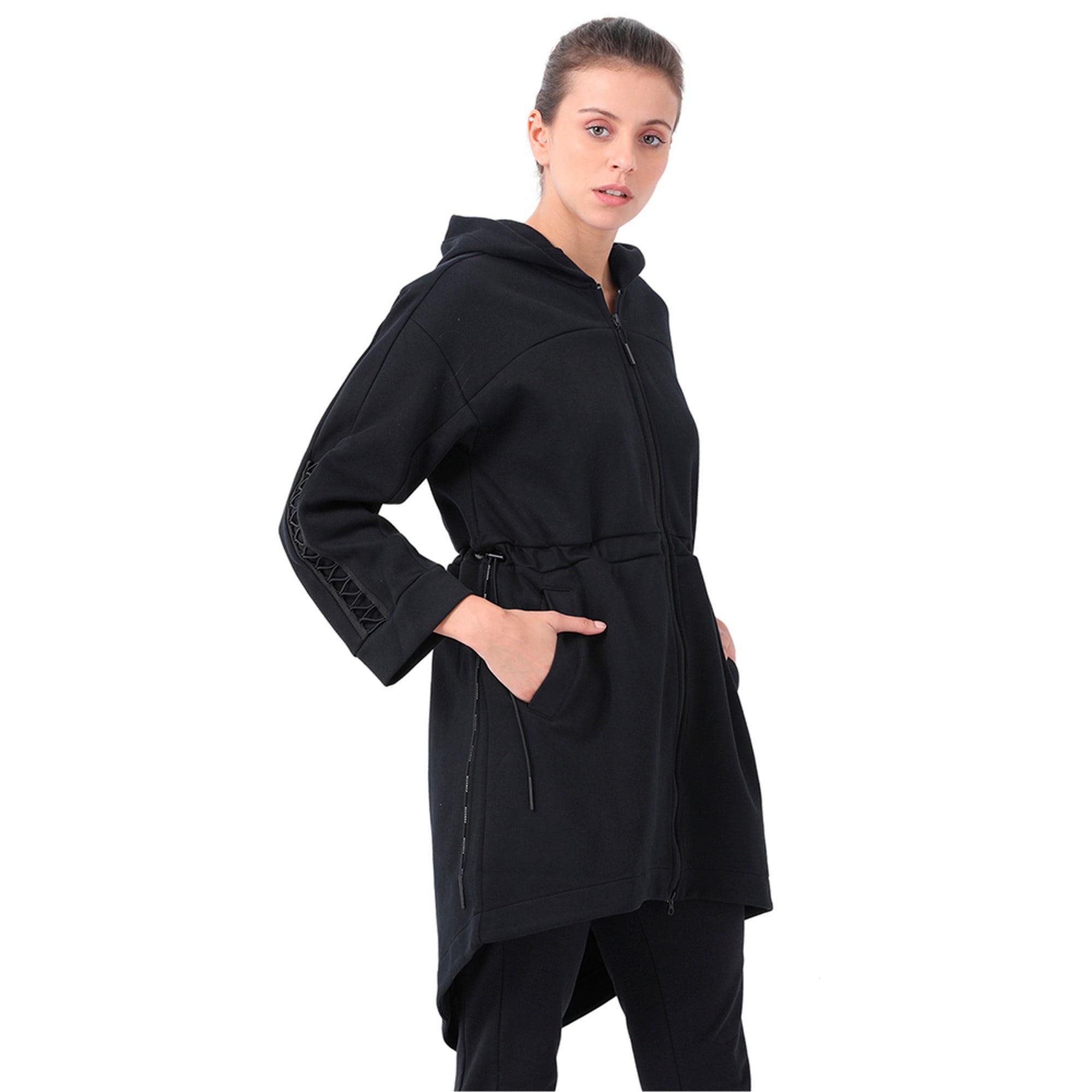 Thumbnail 1 of Evolution Women's Lacing Midlayer Jacket, Puma Black, medium-IND