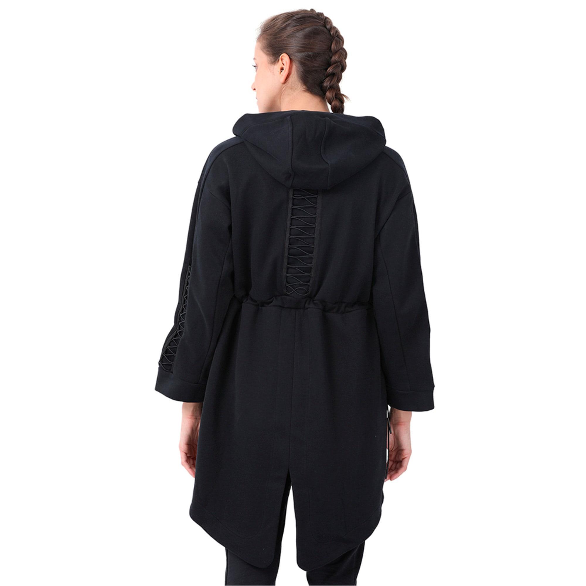 Thumbnail 2 of Evolution Women's Lacing Midlayer Jacket, Puma Black, medium-IND