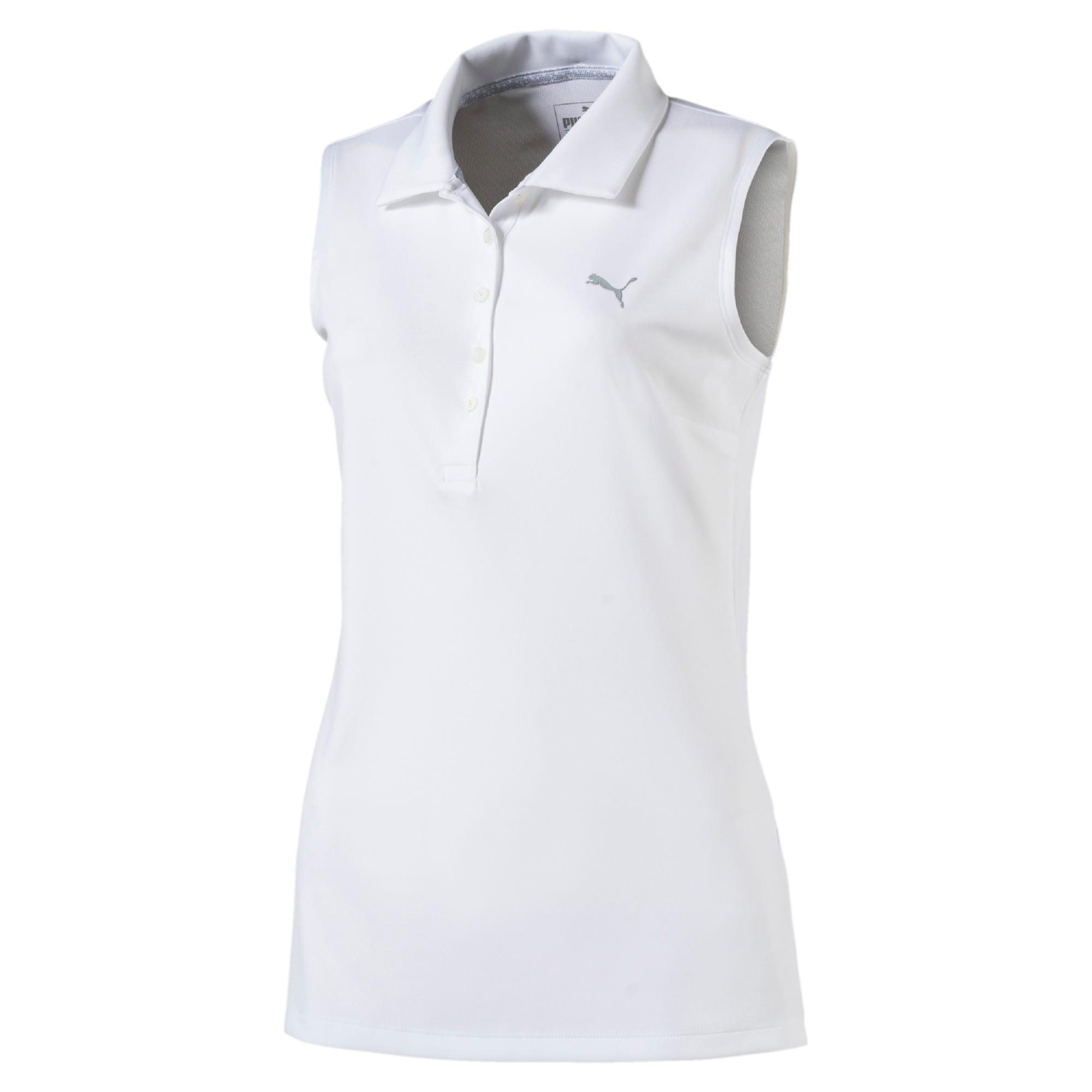Thumbnail 4 of Golf Women's Pounce Sleeveless Polo, Bright White, medium