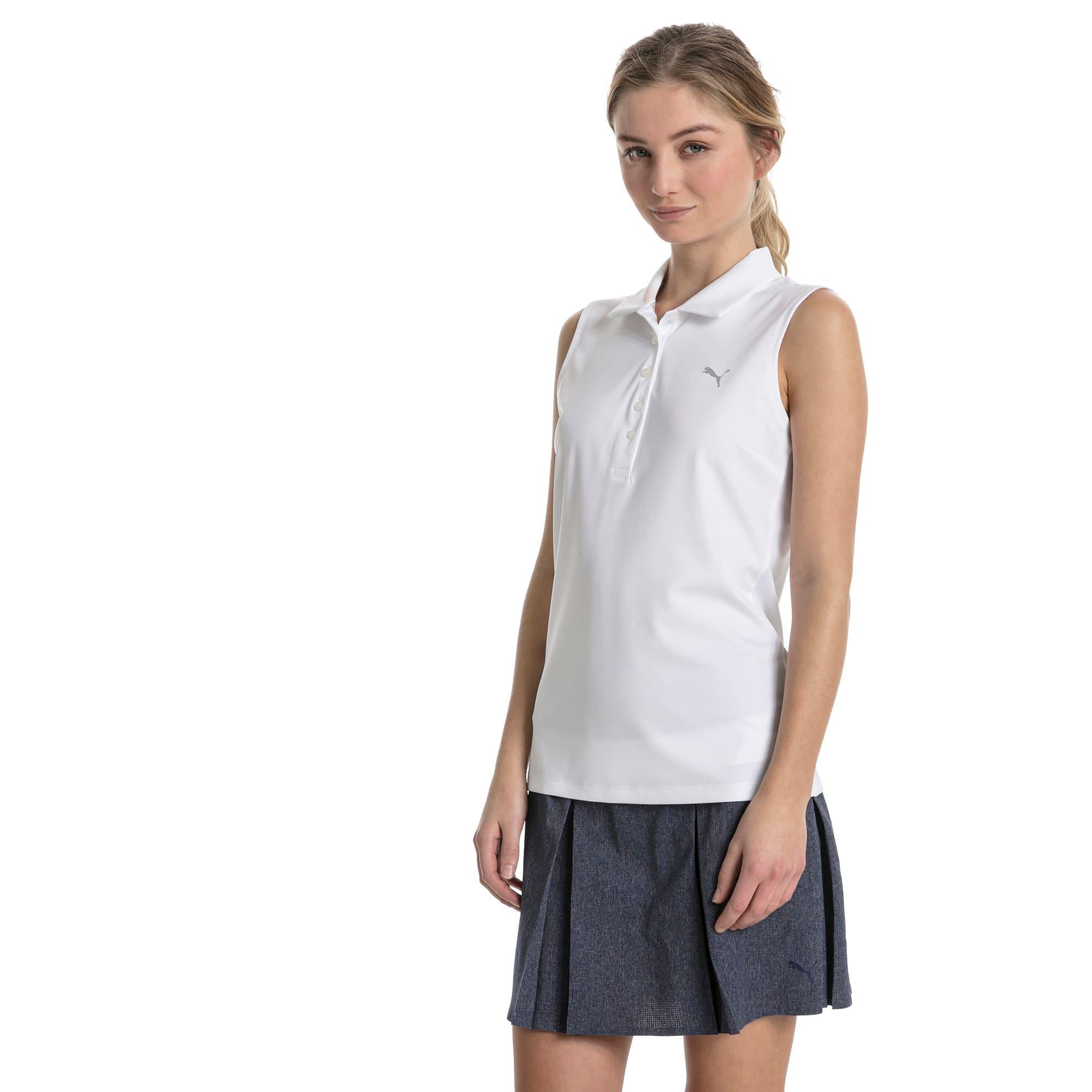 Thumbnail 1 of Golf Women's Pounce Sleeveless Polo, Bright White, medium