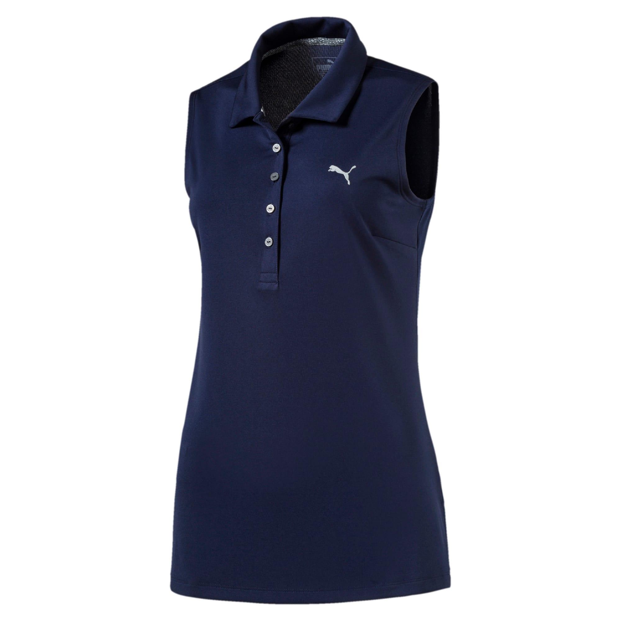 Thumbnail 4 of Golf Women's Pounce Sleeveless Polo, Peacoat, medium