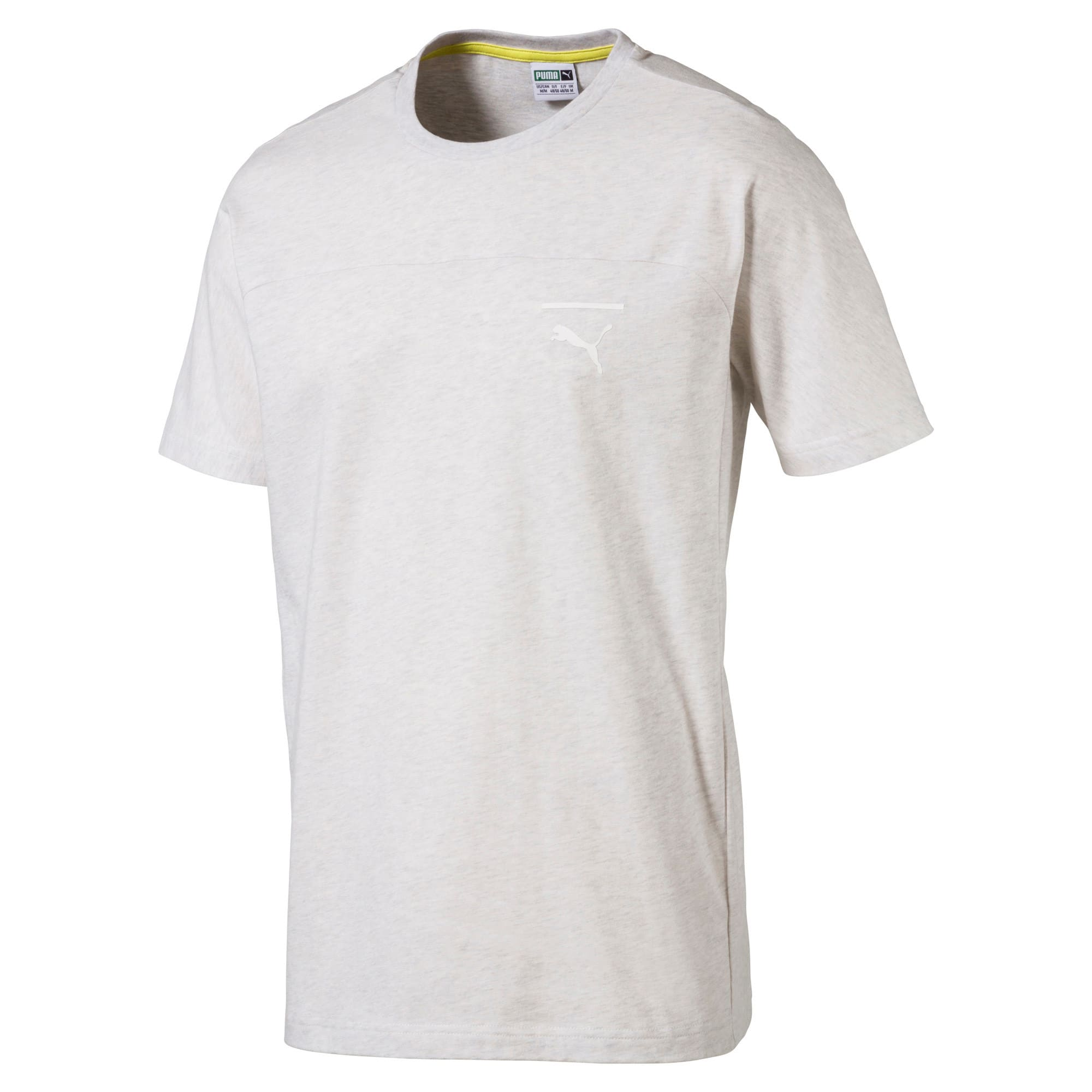 Thumbnail 1 of Pace Primary Men's T-Shirt, Puma White-Ice heather, medium-IND