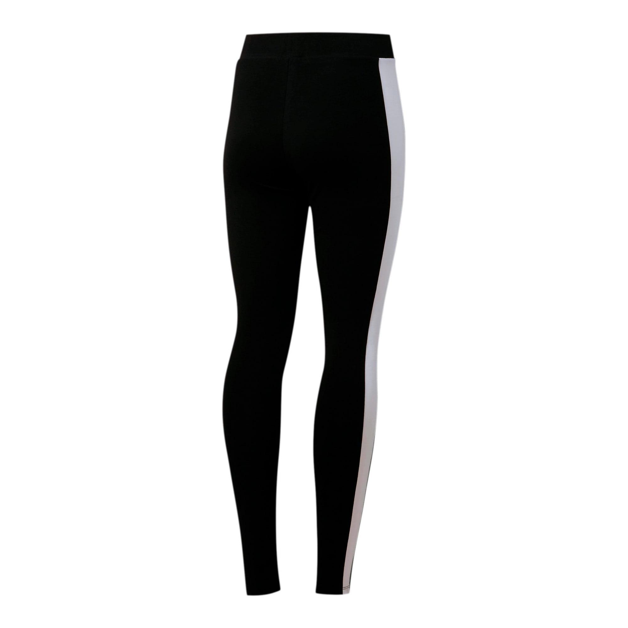 Thumbnail 4 of Classics Logo T7 Women's Leggings, Cotton Black, medium
