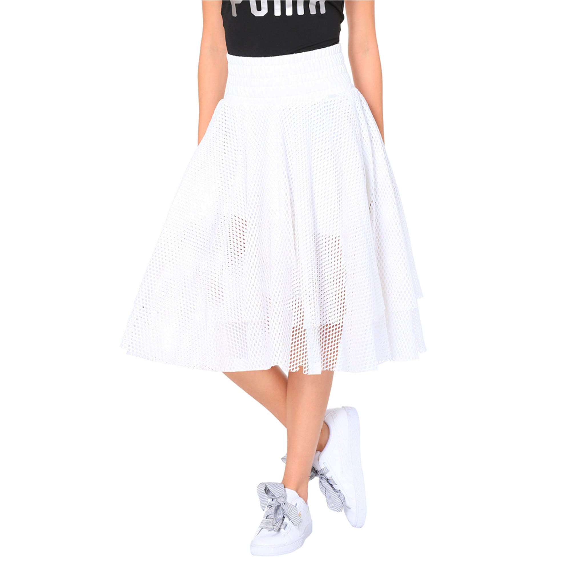 Thumbnail 1 of En Pointe Women's Skirt, Puma White, medium-IND