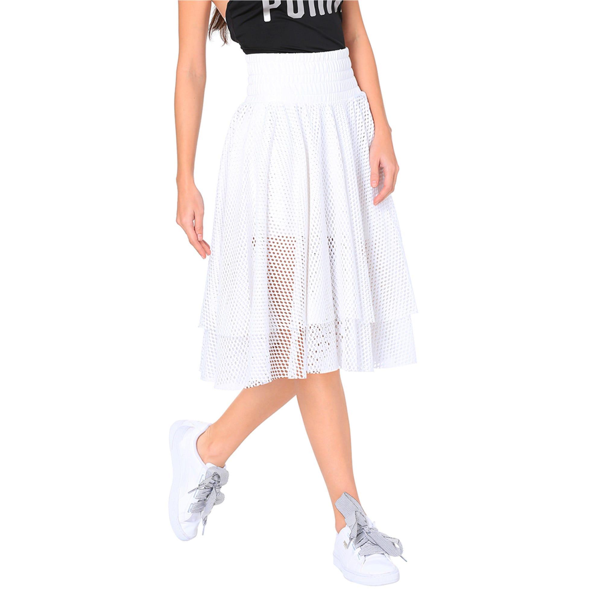 Thumbnail 2 of En Pointe Women's Skirt, Puma White, medium-IND