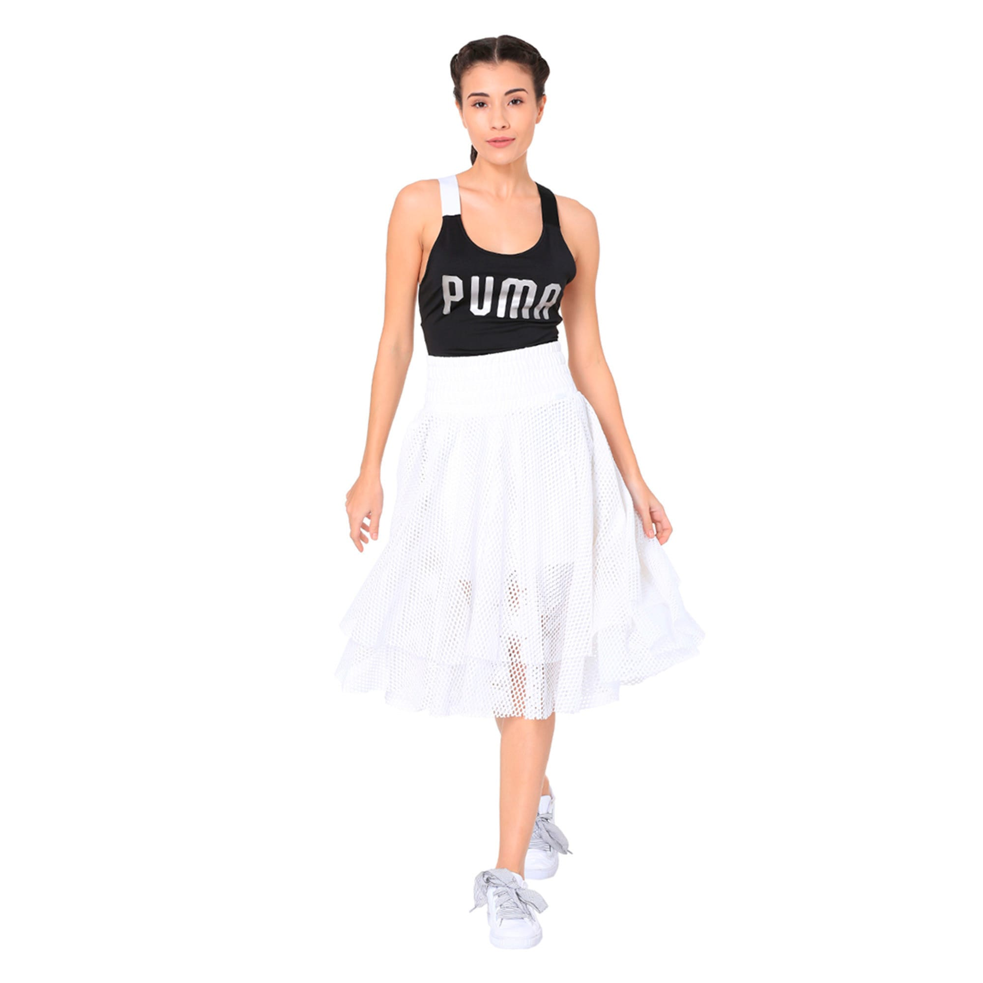 Thumbnail 3 of En Pointe Women's Skirt, Puma White, medium-IND