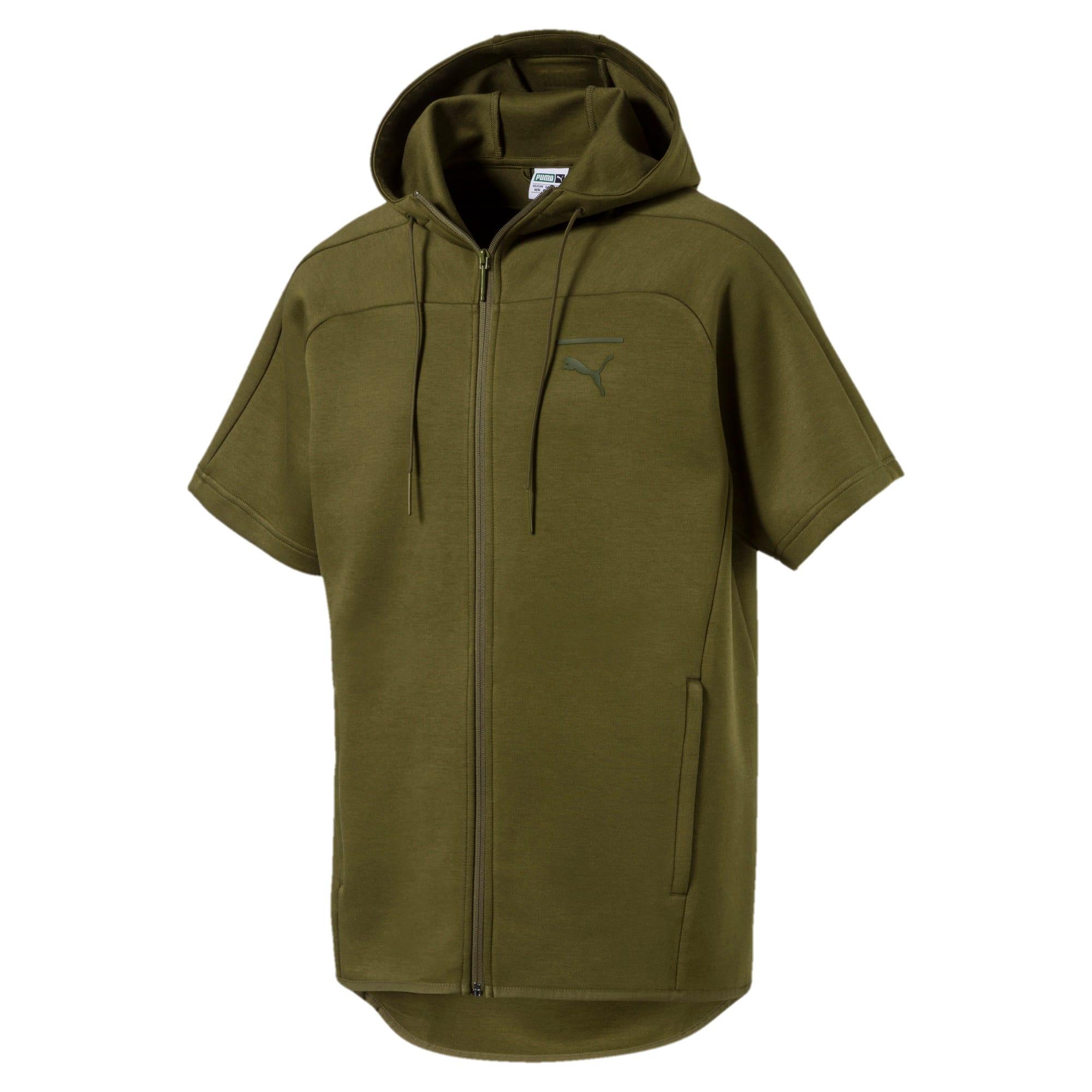 Thumbnail 1 of Pace Men's Short Full Zip Sleeve Trend Top, Capulet Olive, medium-IND