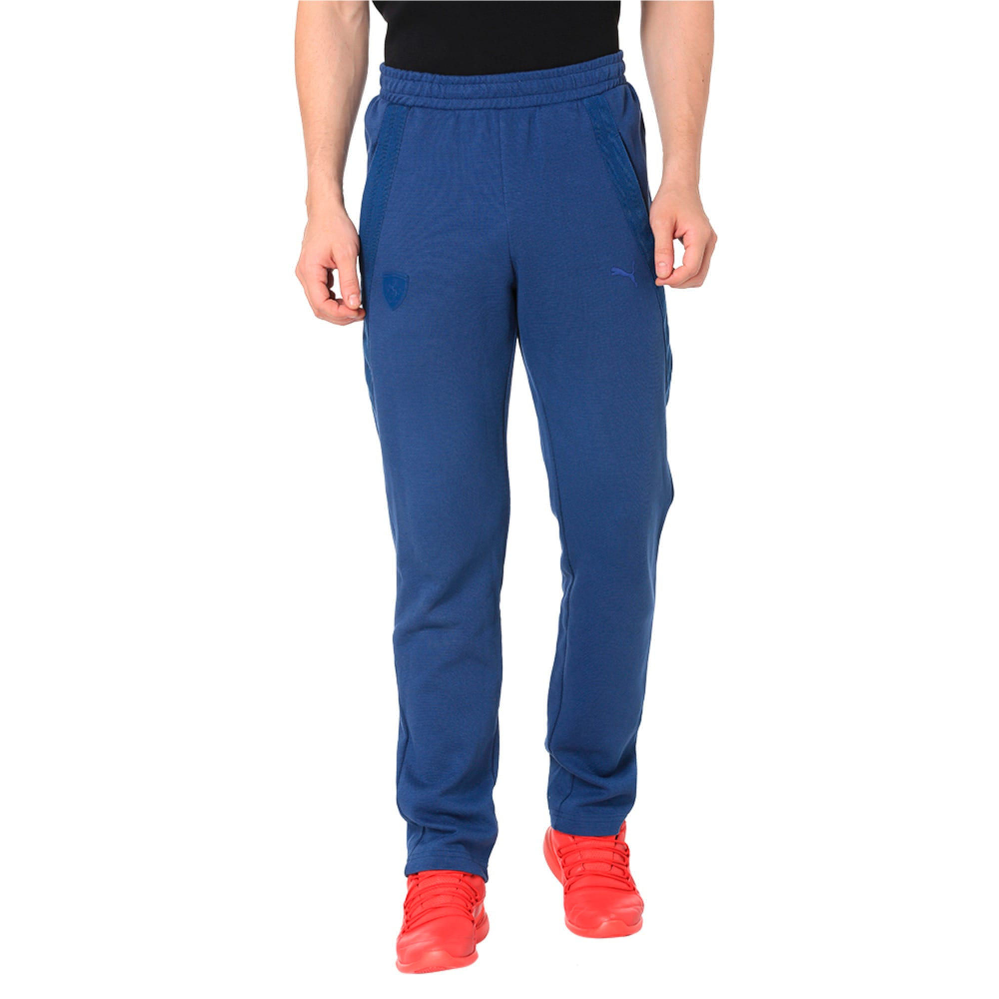 Thumbnail 3 of Ferrari Lifestyle Men's Sweatpants, Sargasso Sea, medium-IND