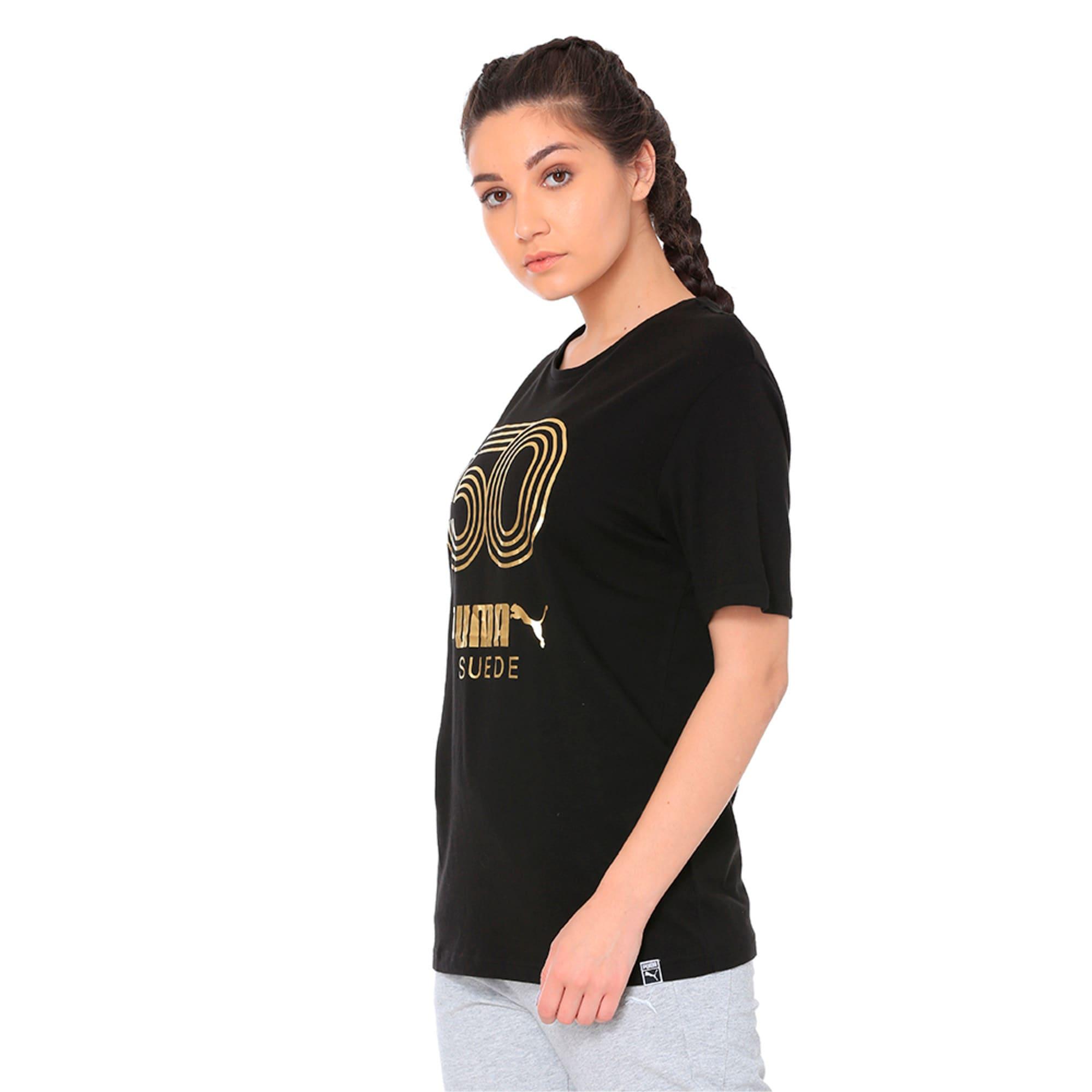 Thumbnail 3 of Women's Graphic T-shirt, Cotton Black, medium-IND
