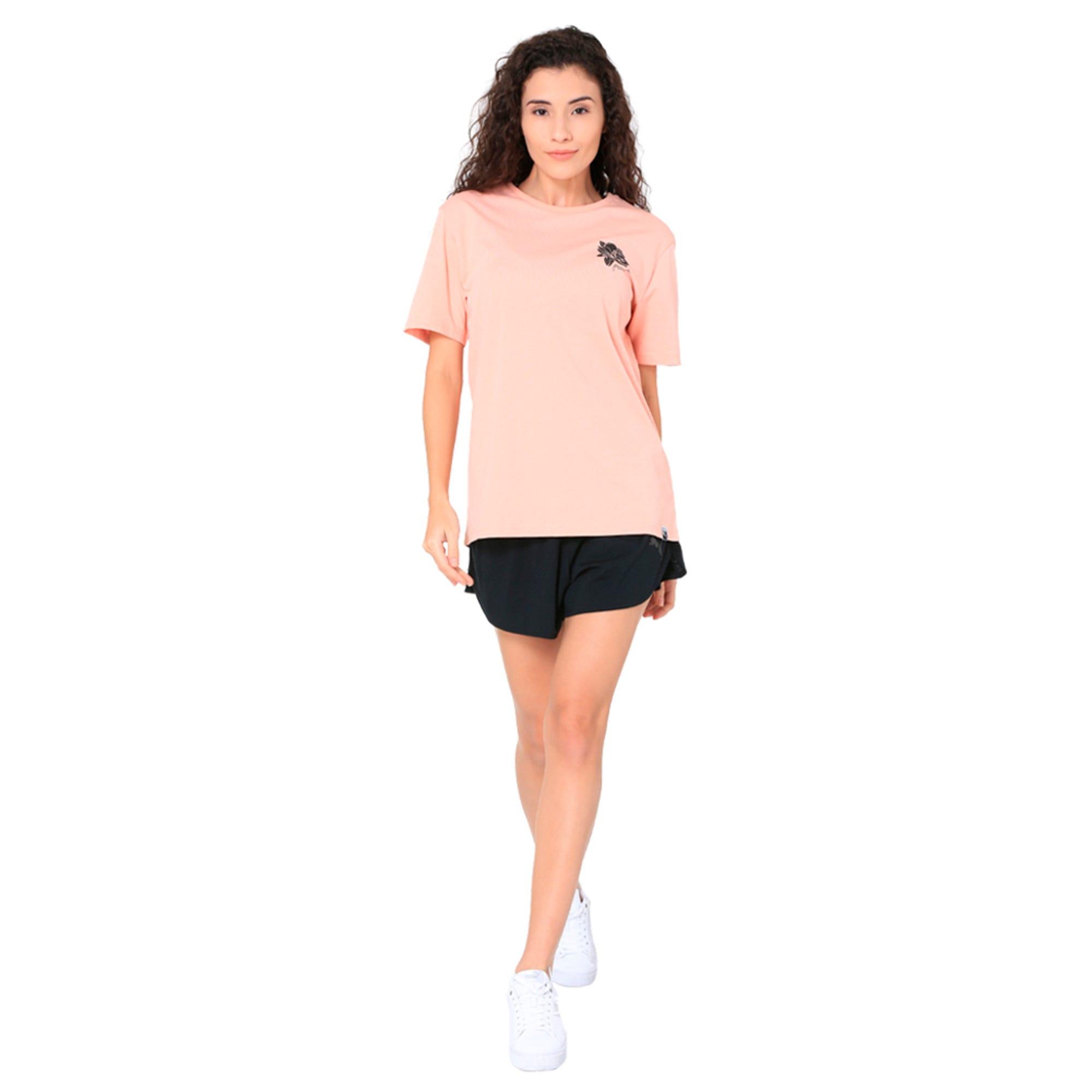 Thumbnail 6 of Women's Graphic T-shirt, Peach Beige, medium-IND
